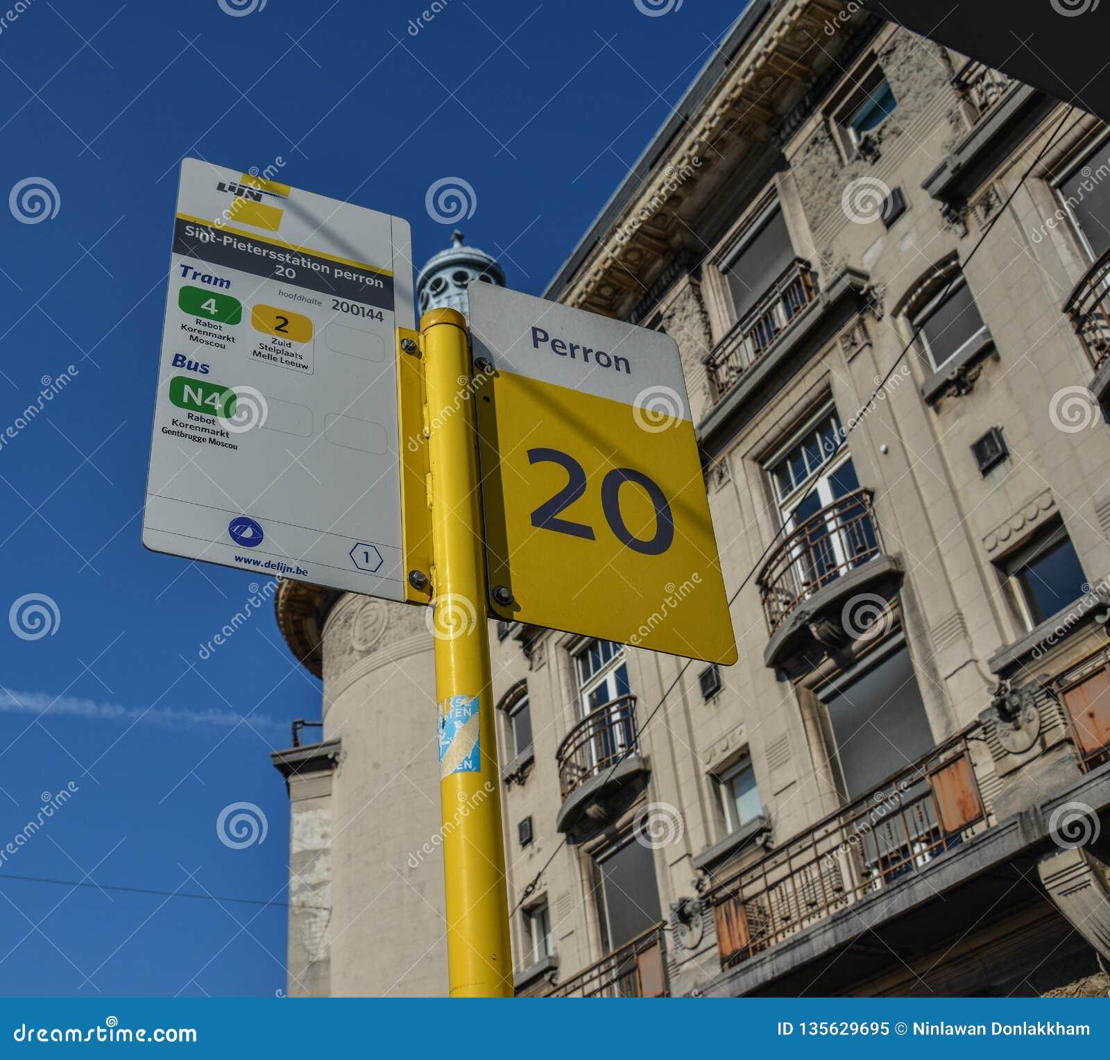 Доска информации автобусной остановки
