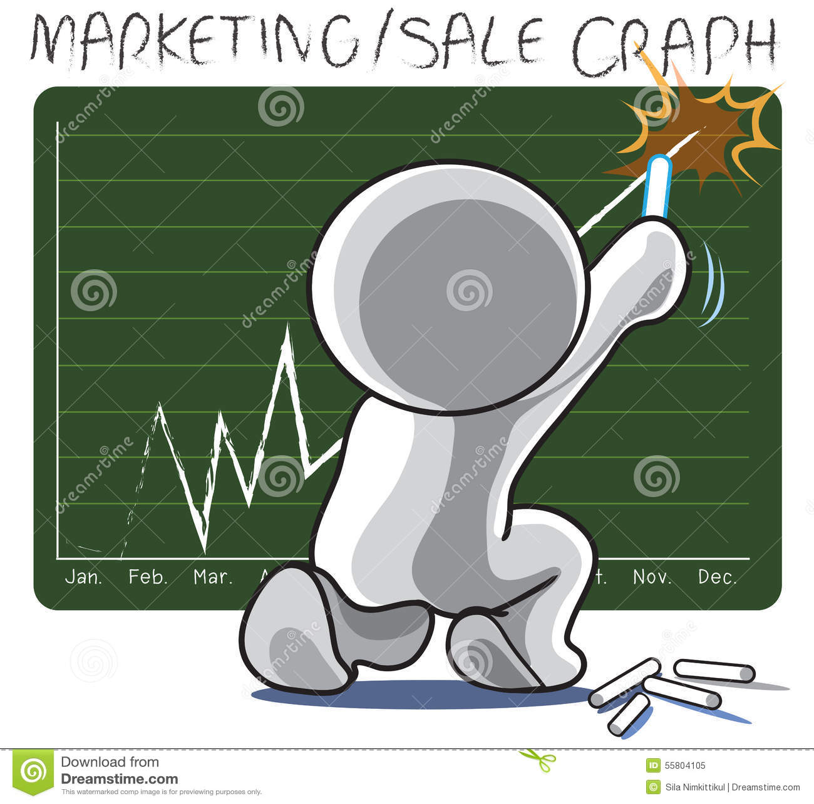 b0500a2c21785 Доска объявлений диаграммы успеха продажи маркетинга сидит ...