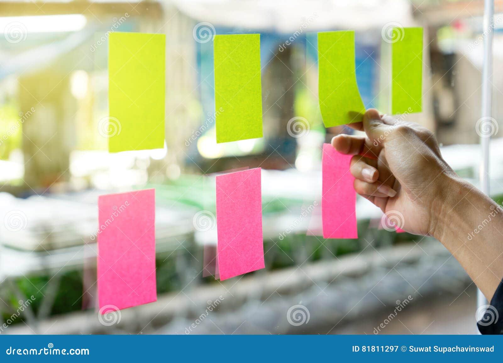 Доска план-графика напоминания бумаги примечания