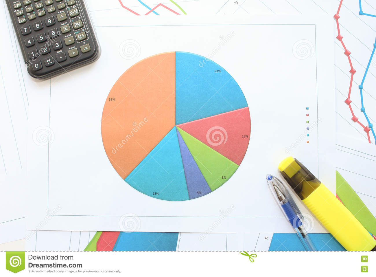 Download Долевая диограмма стоковое изображение. изображение насчитывающей маркетинг - 72285187