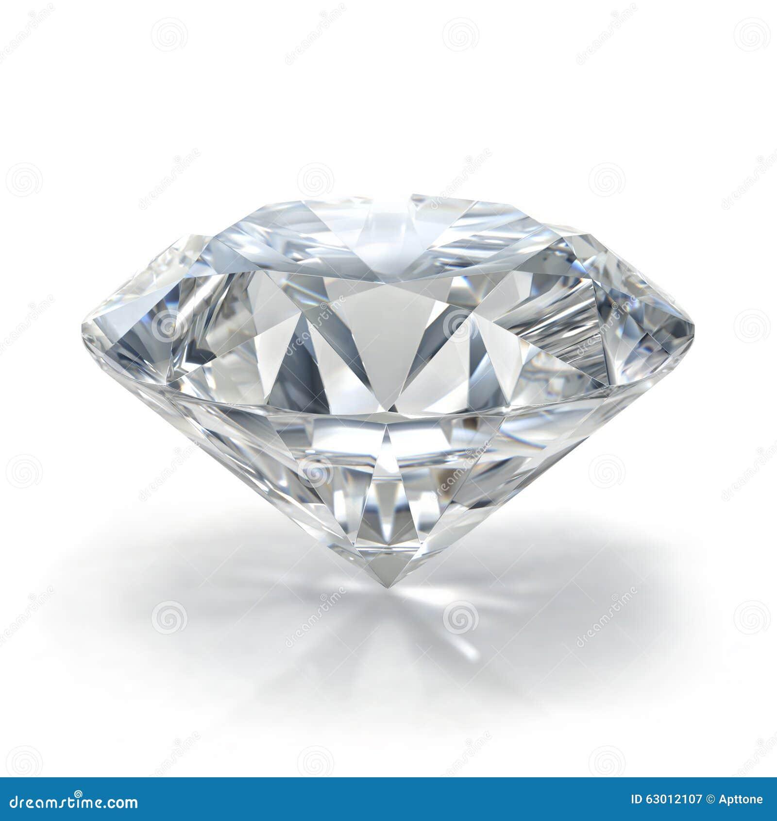 Драгоценность диаманта на белой предпосылке