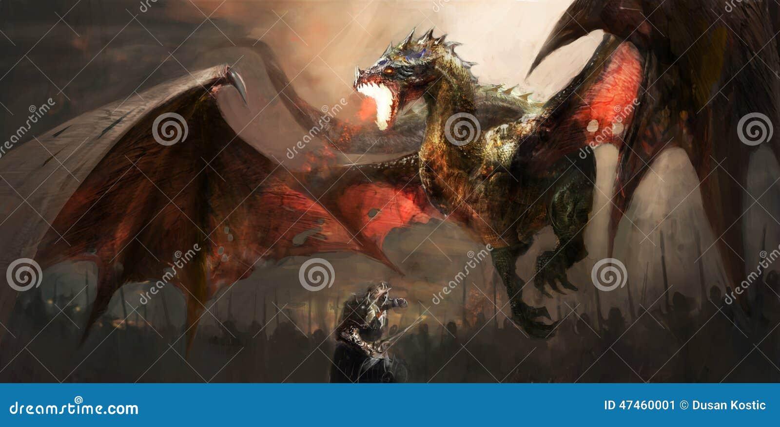 Дракон рыцаря воюя