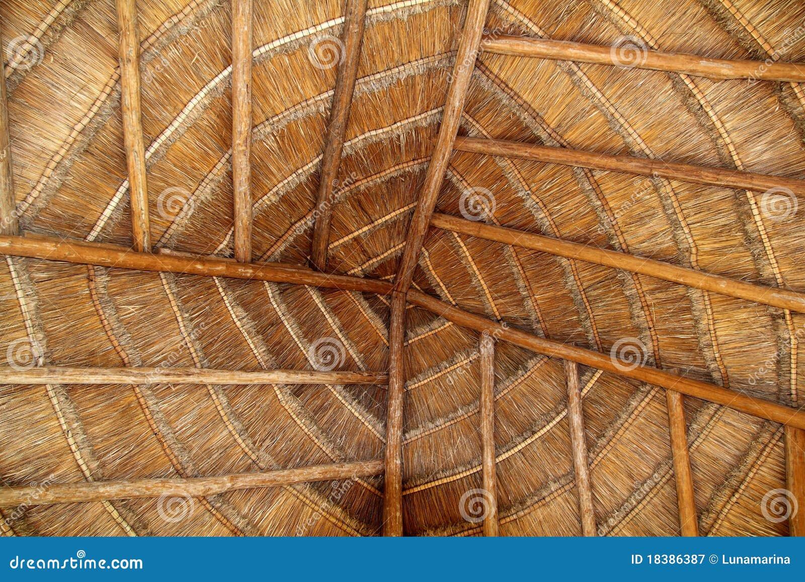 древесина крыши palapa Мексики детали кабины тропическая