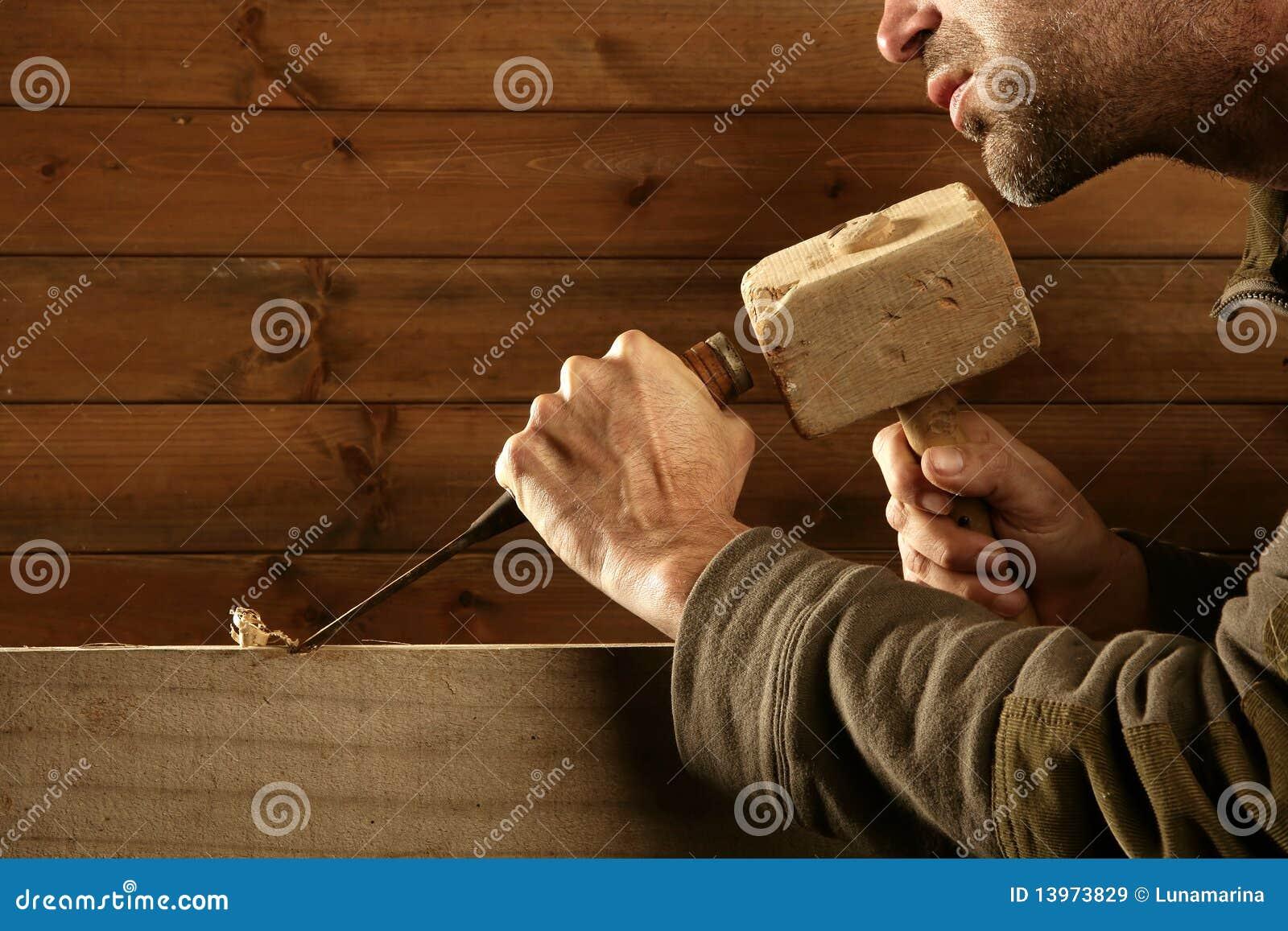 древесина ручного резца молотка gouge зубила плотника