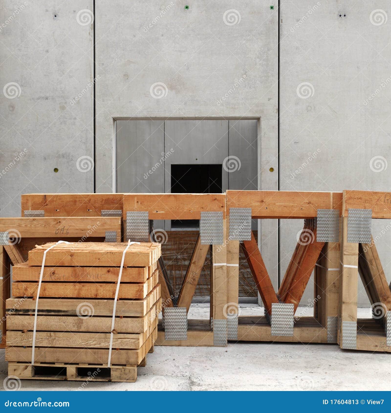 древесина стога строительной площадки
