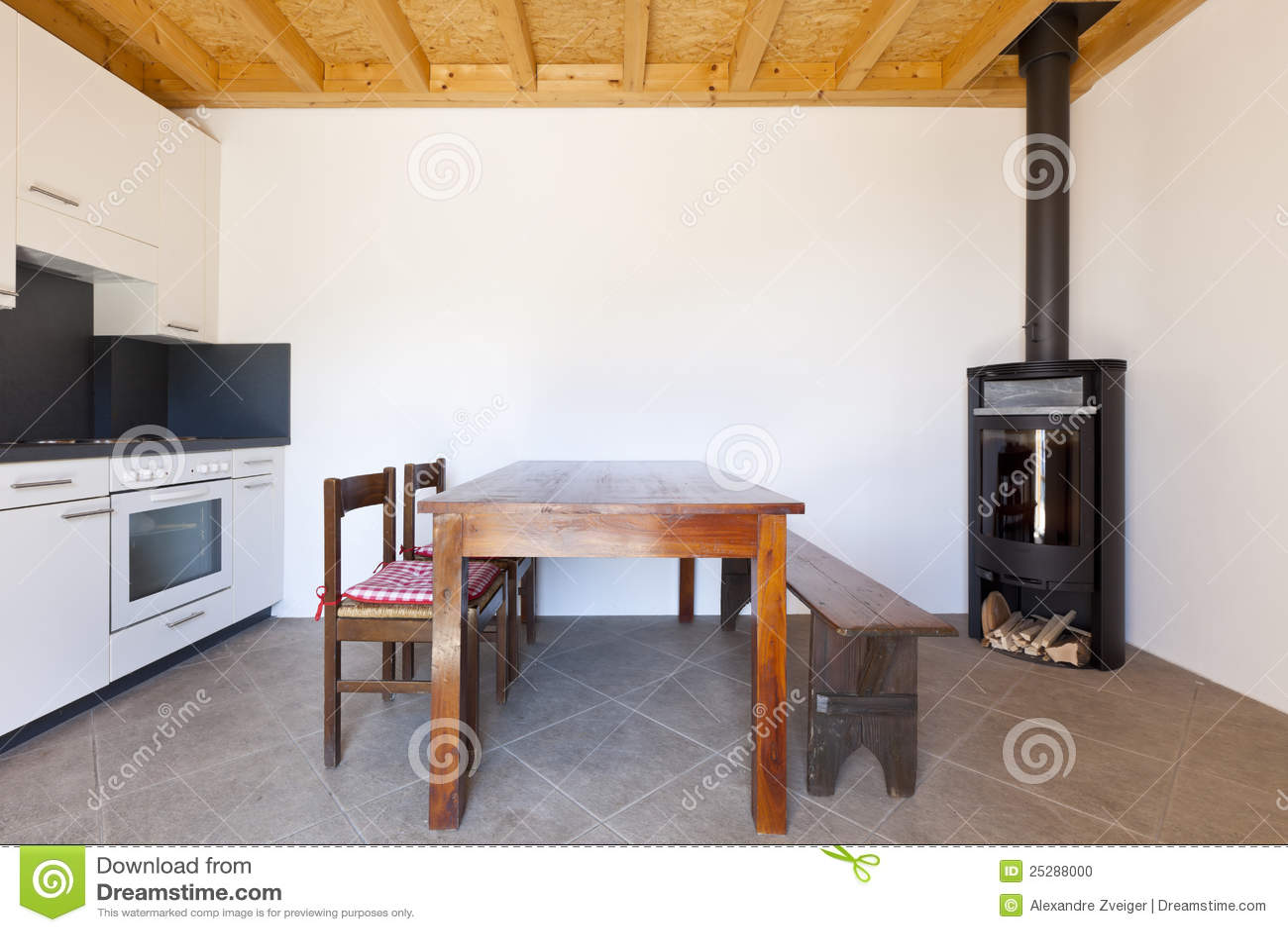 древесина таблицы печки комнаты
