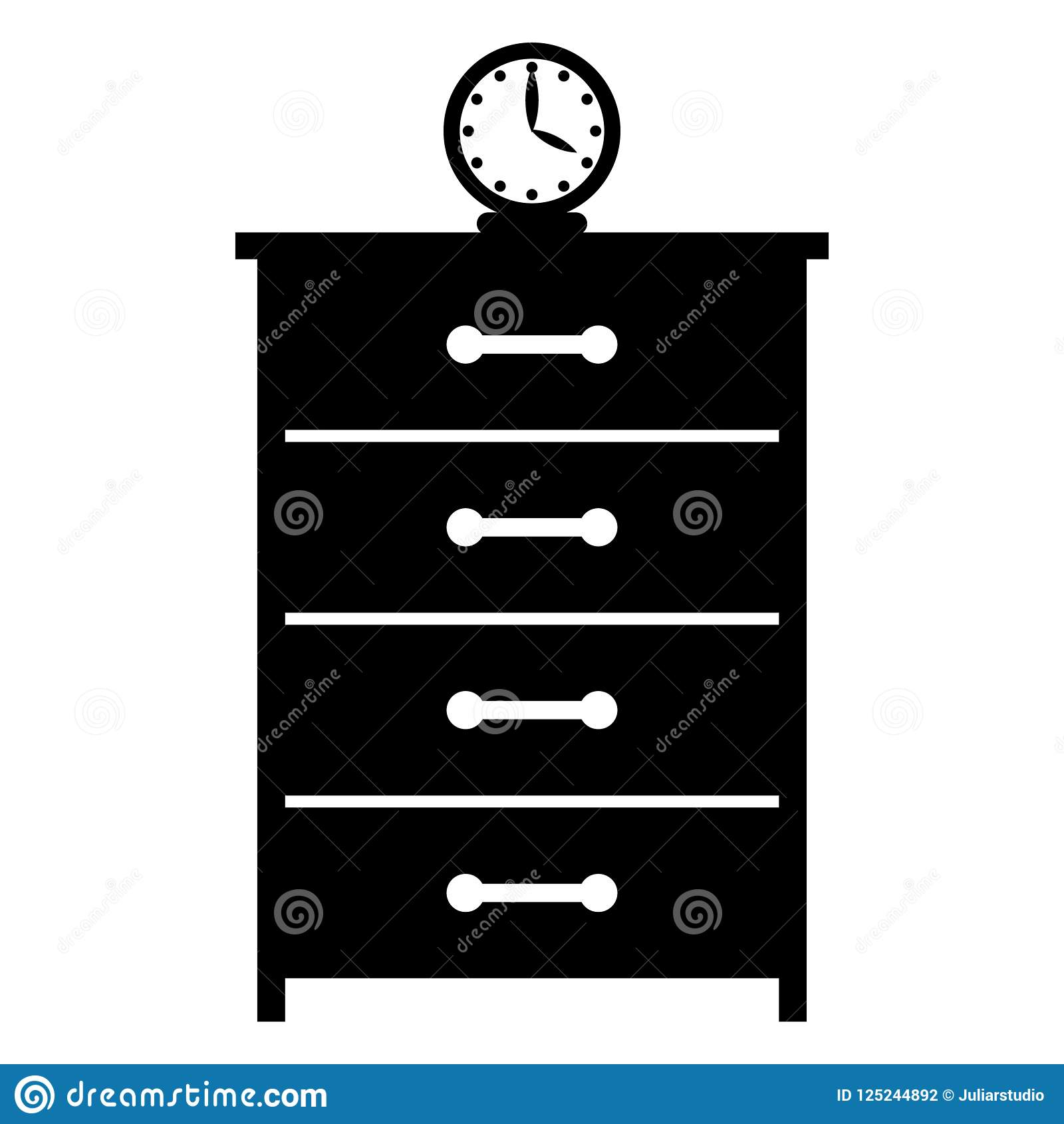 Дрессер с значком часов простым