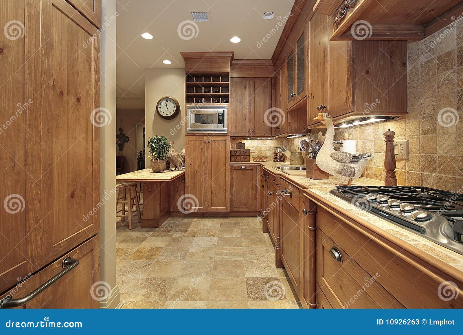дуб кухни страны cabinetry