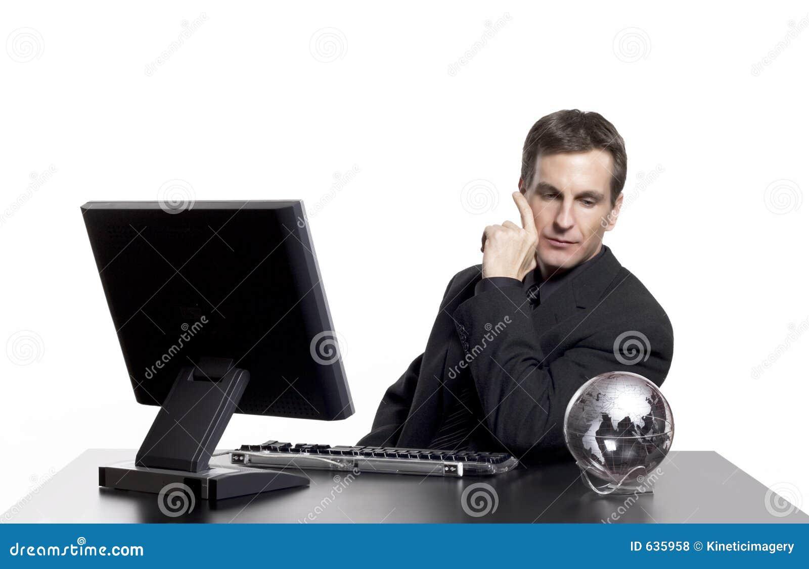 Download думать дела глобально ваш стоковое фото. изображение насчитывающей бизнесмен - 635958