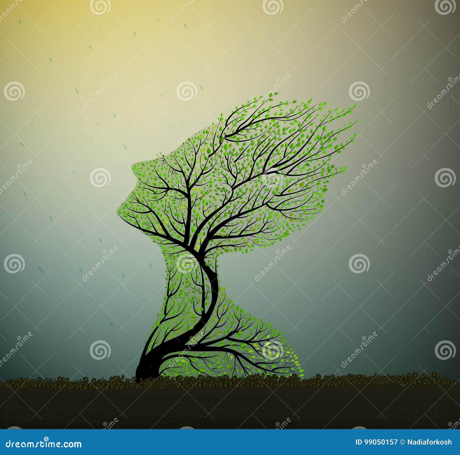 Душа дерева, вектор