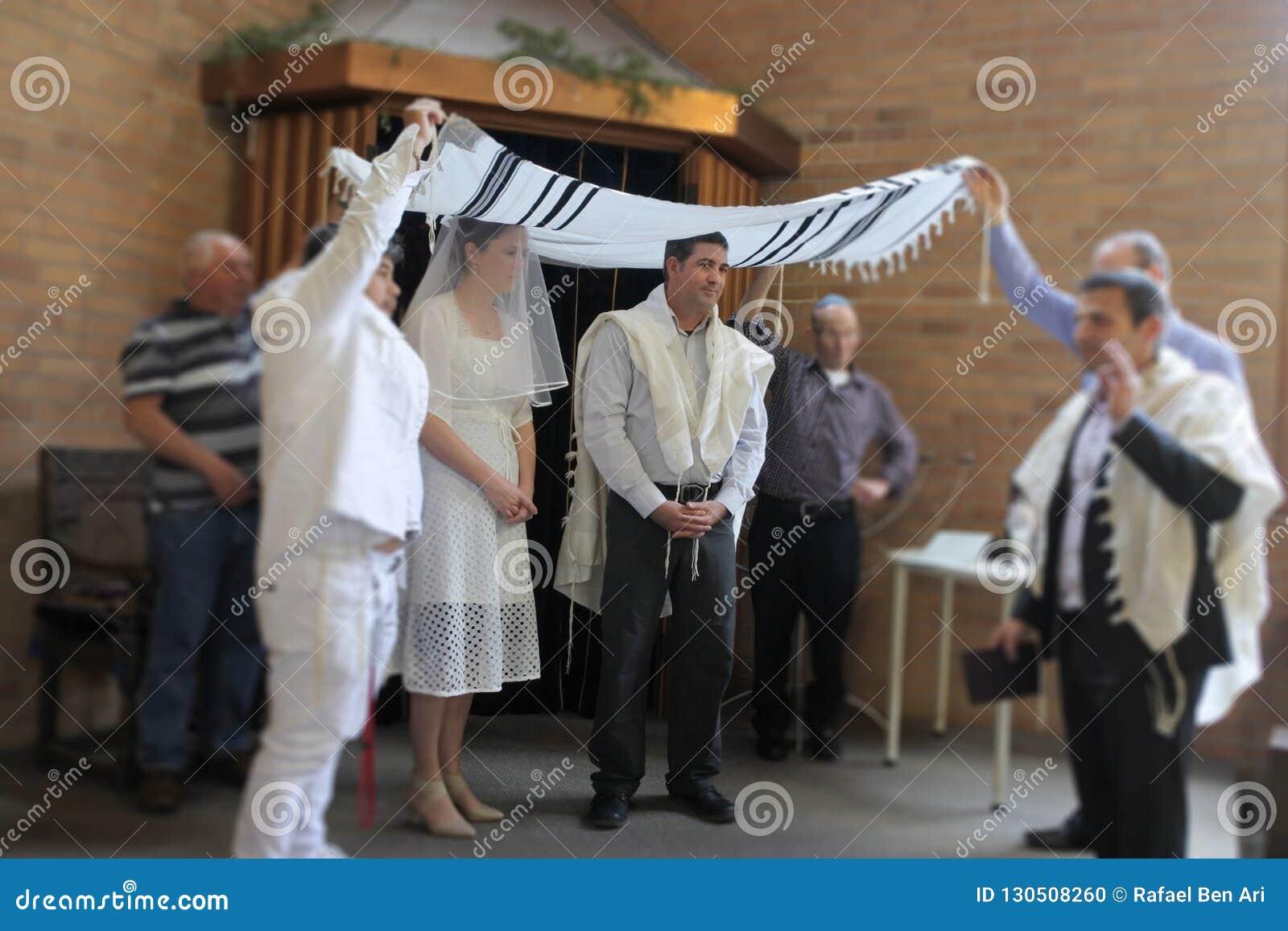 Еврейская невеста и свадебная церемония жениха