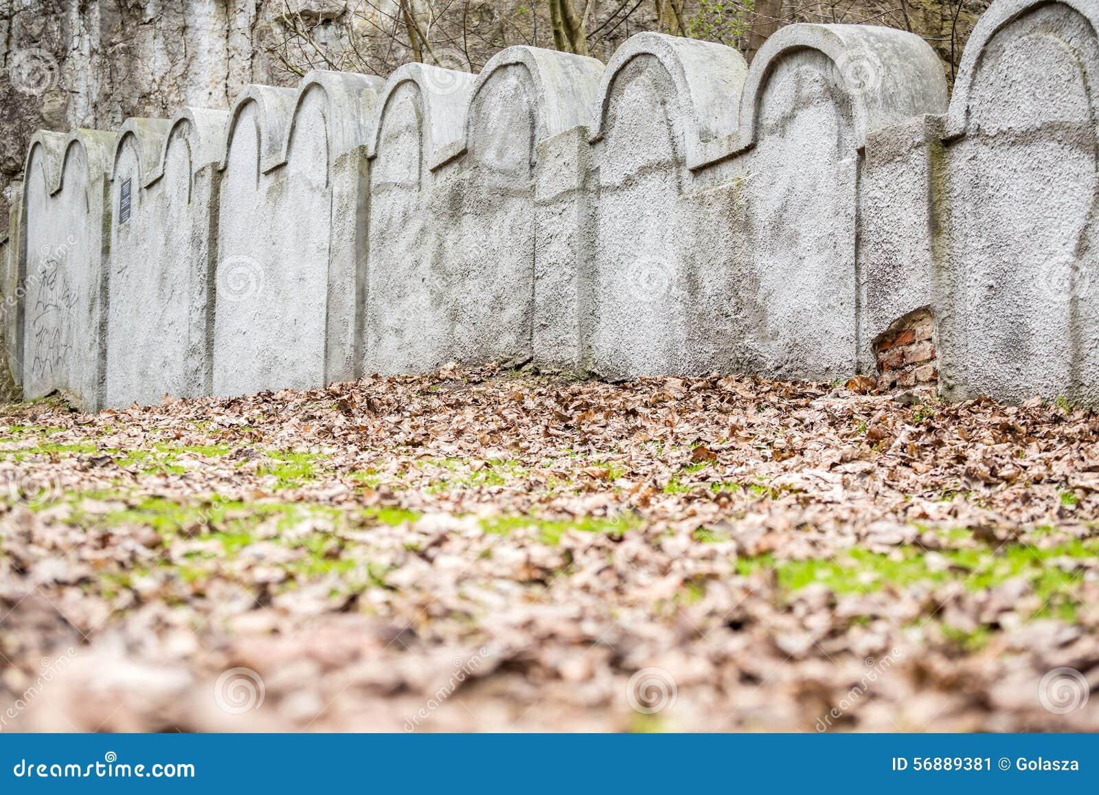 Еврейская стена гетто, Краков, Польша