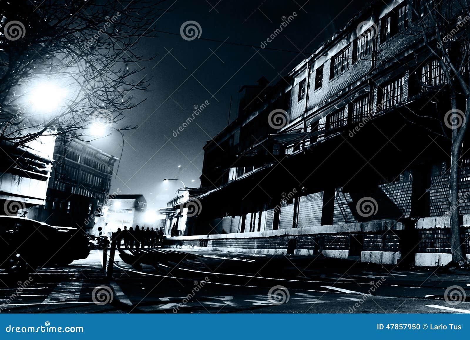европейская улица ночи