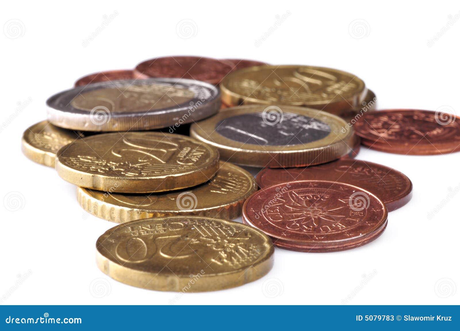 евро монетки