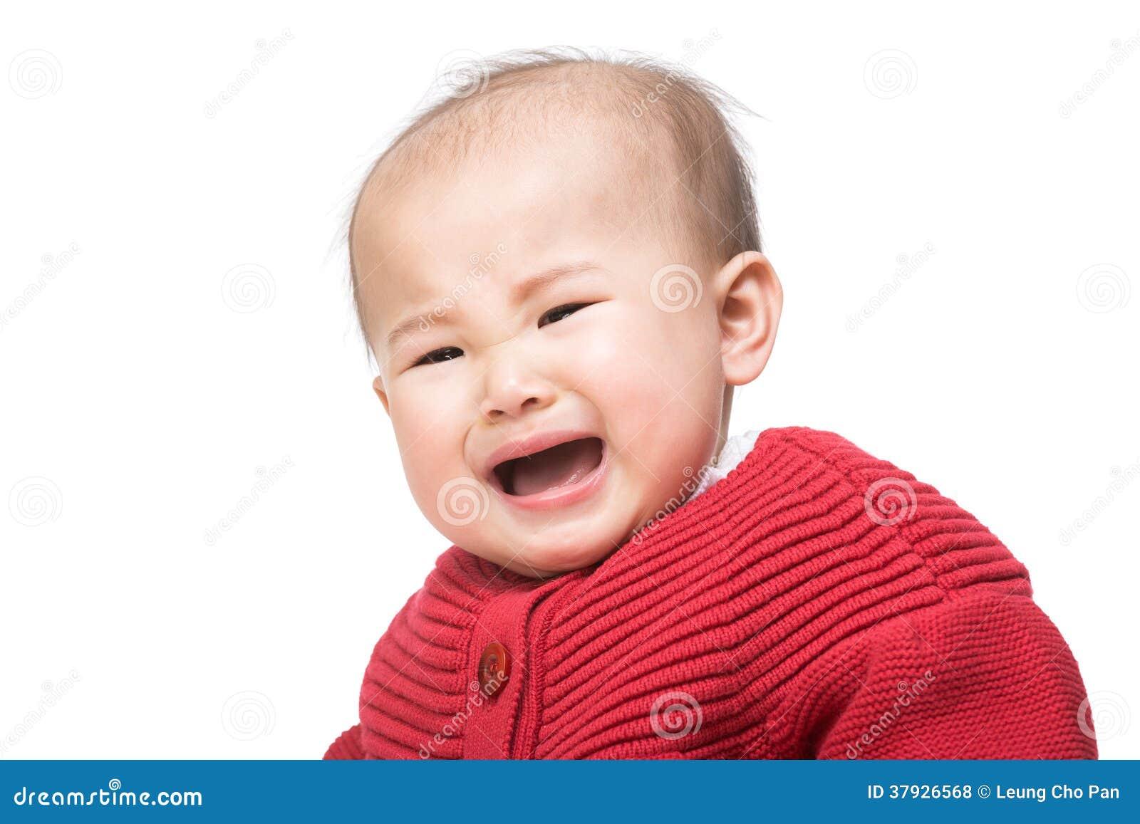 девушка младенца плача