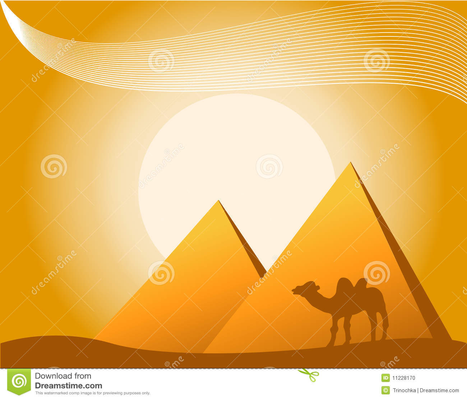 египетский вектор темы иллюстрации
