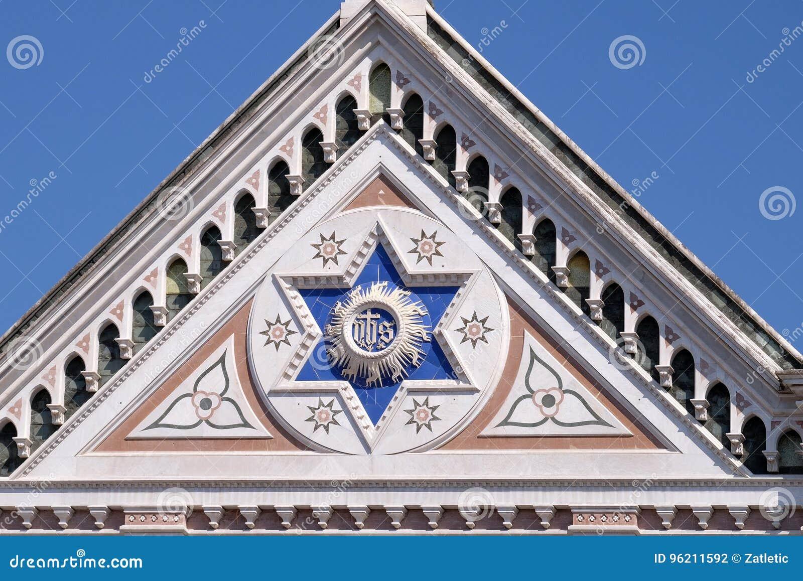 ЕГО знак, базилика Santa Croce di базилики святой перекрестной церков в Флоренсе, Италии