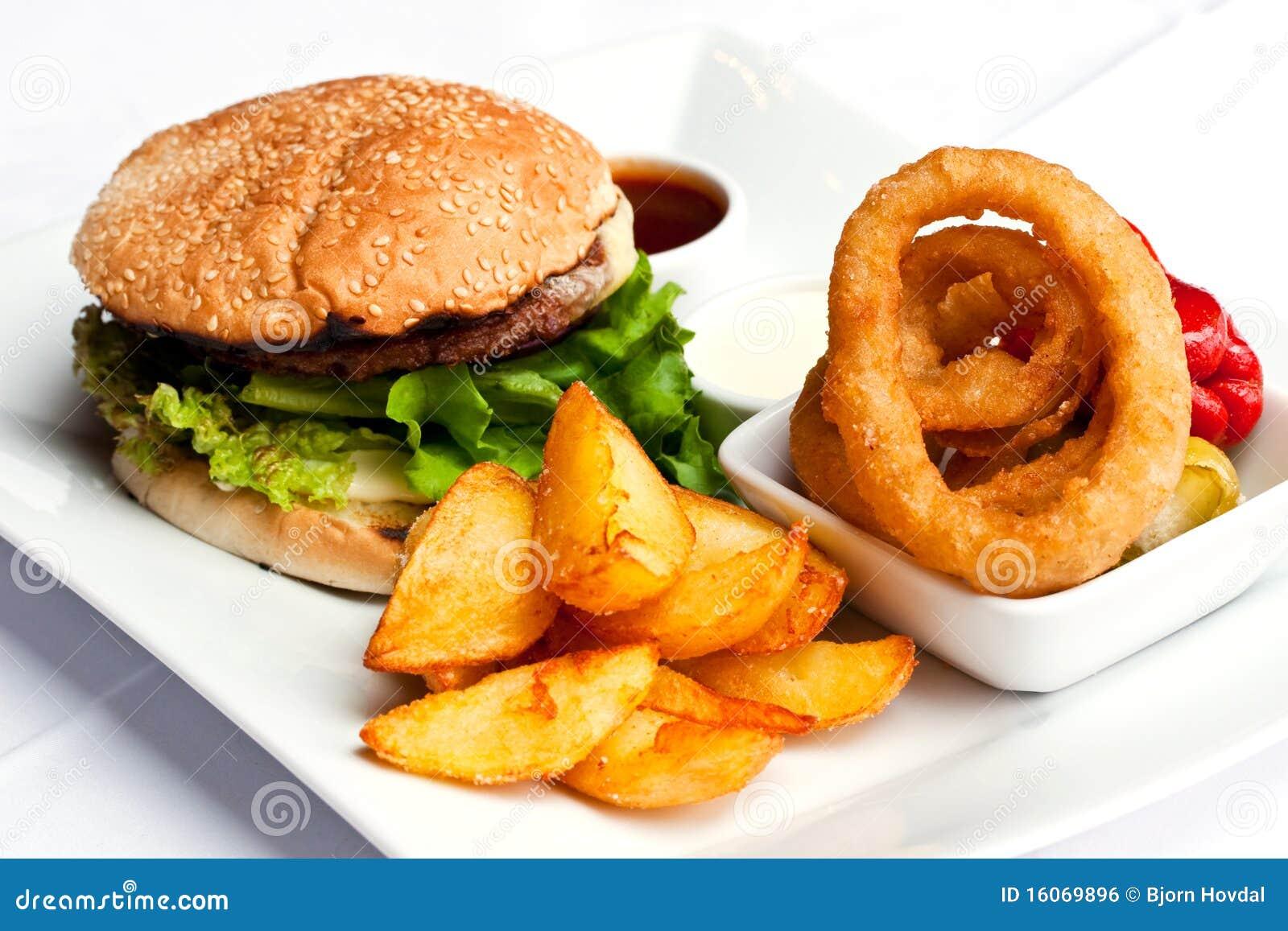 еда гамбургера