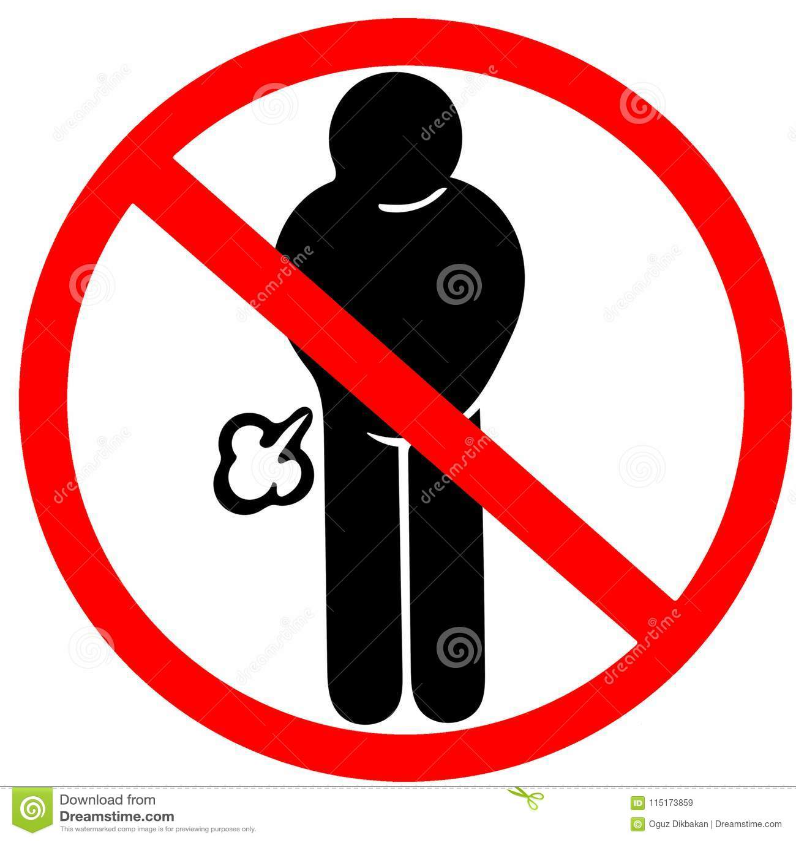 Еда не может причинить пукать газа запрещенный предупредить дорожный знак красный круг изолированный на белизне
