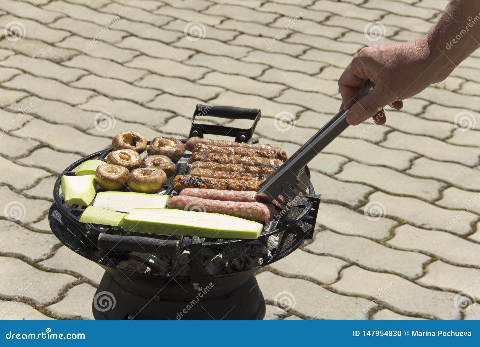 Еда сваренная на гриле