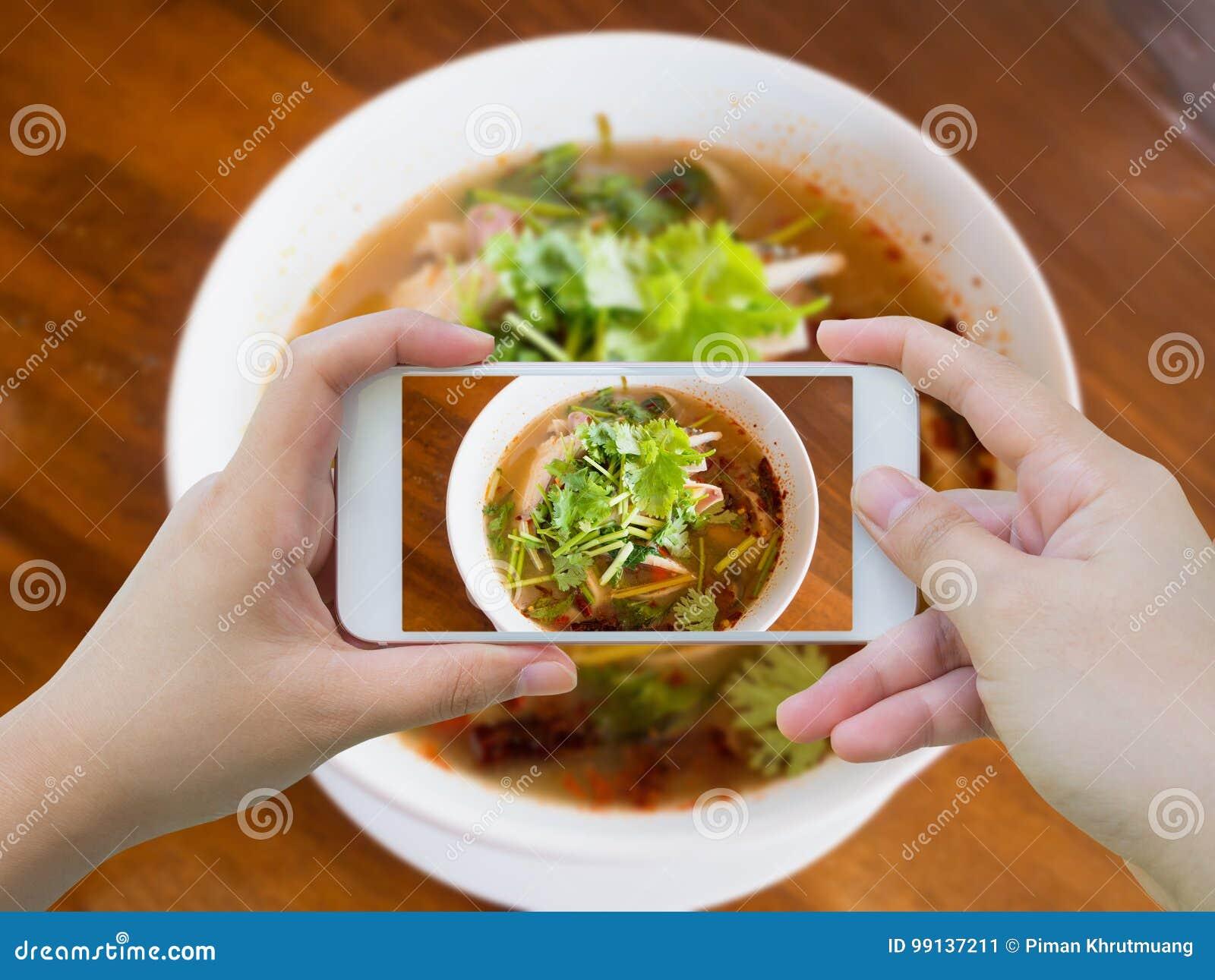 Еда супа Тома Yum тайская