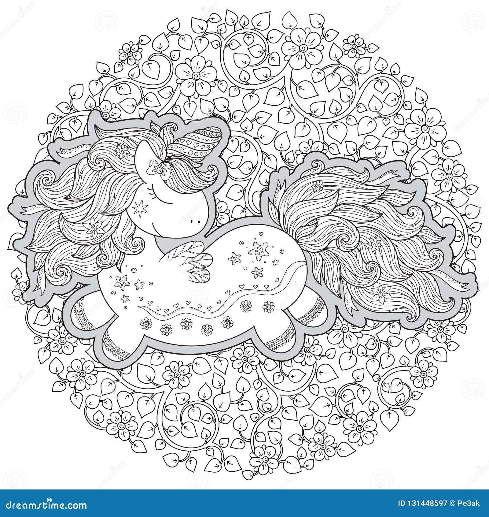 единорог состав состоит из единорога окруженного букетом роз