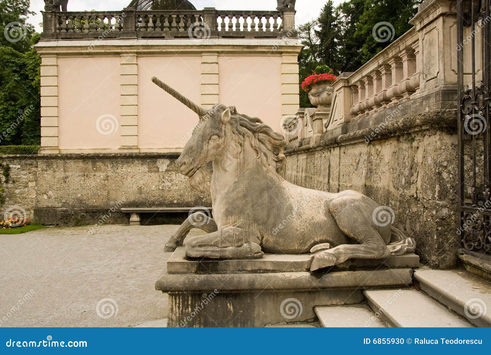 единорог статуи salzburg mirabell сада