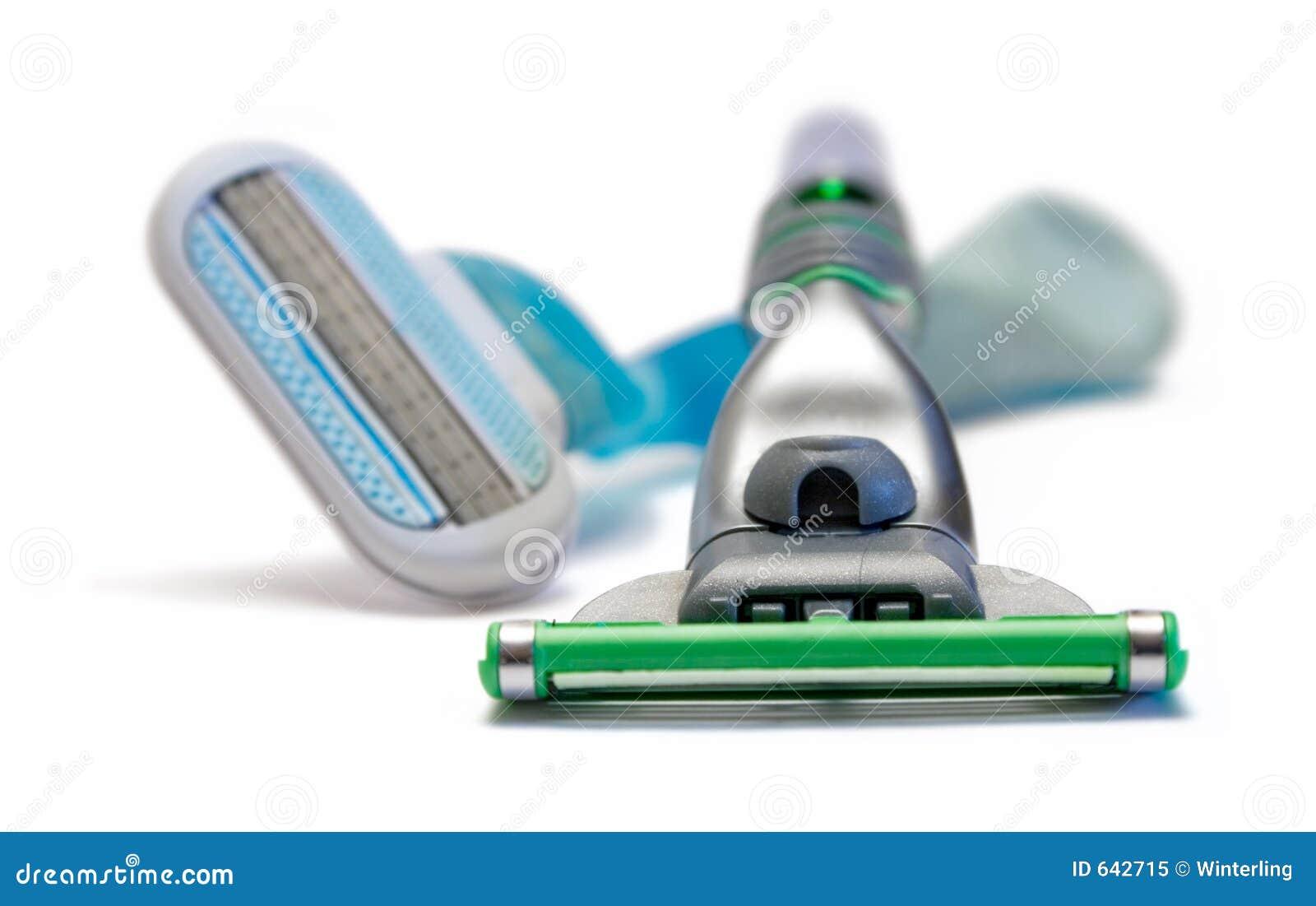 Download ее его брить бритв стоковое изображение. изображение насчитывающей холить - 642715