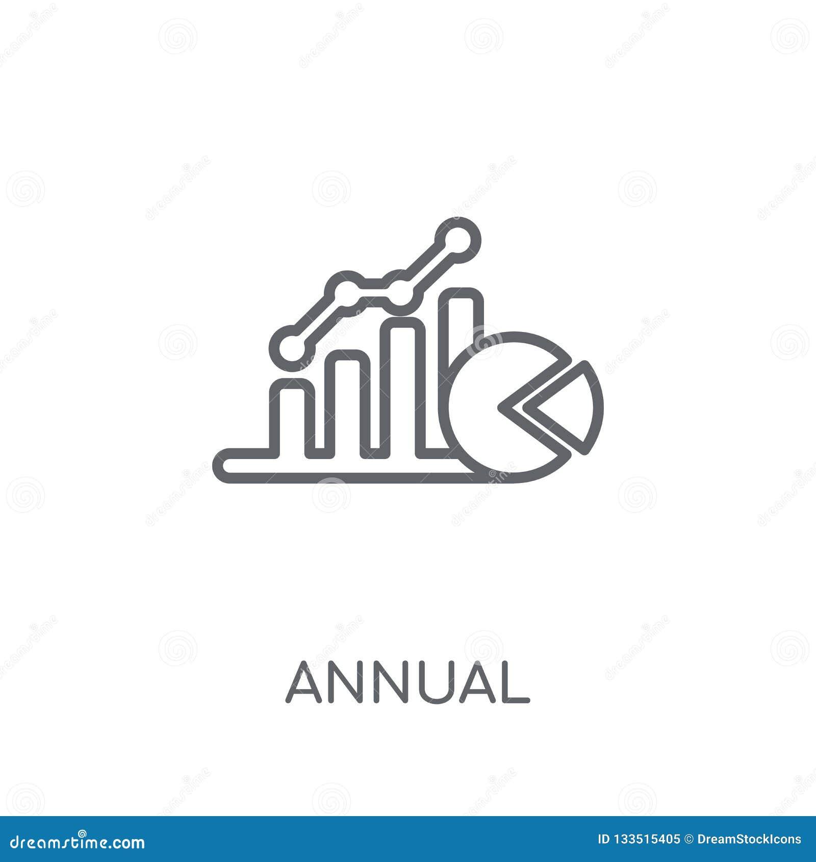 Ежегодный соответствующий значок тарифа (AER) линейный Современный ежегодник плана