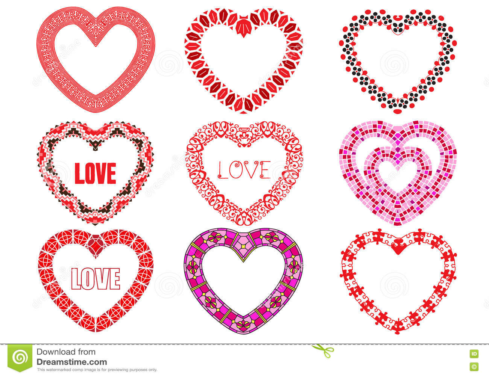 Download декоративные сердца иллюстрация вектора. иллюстрации насчитывающей typography - 72279075