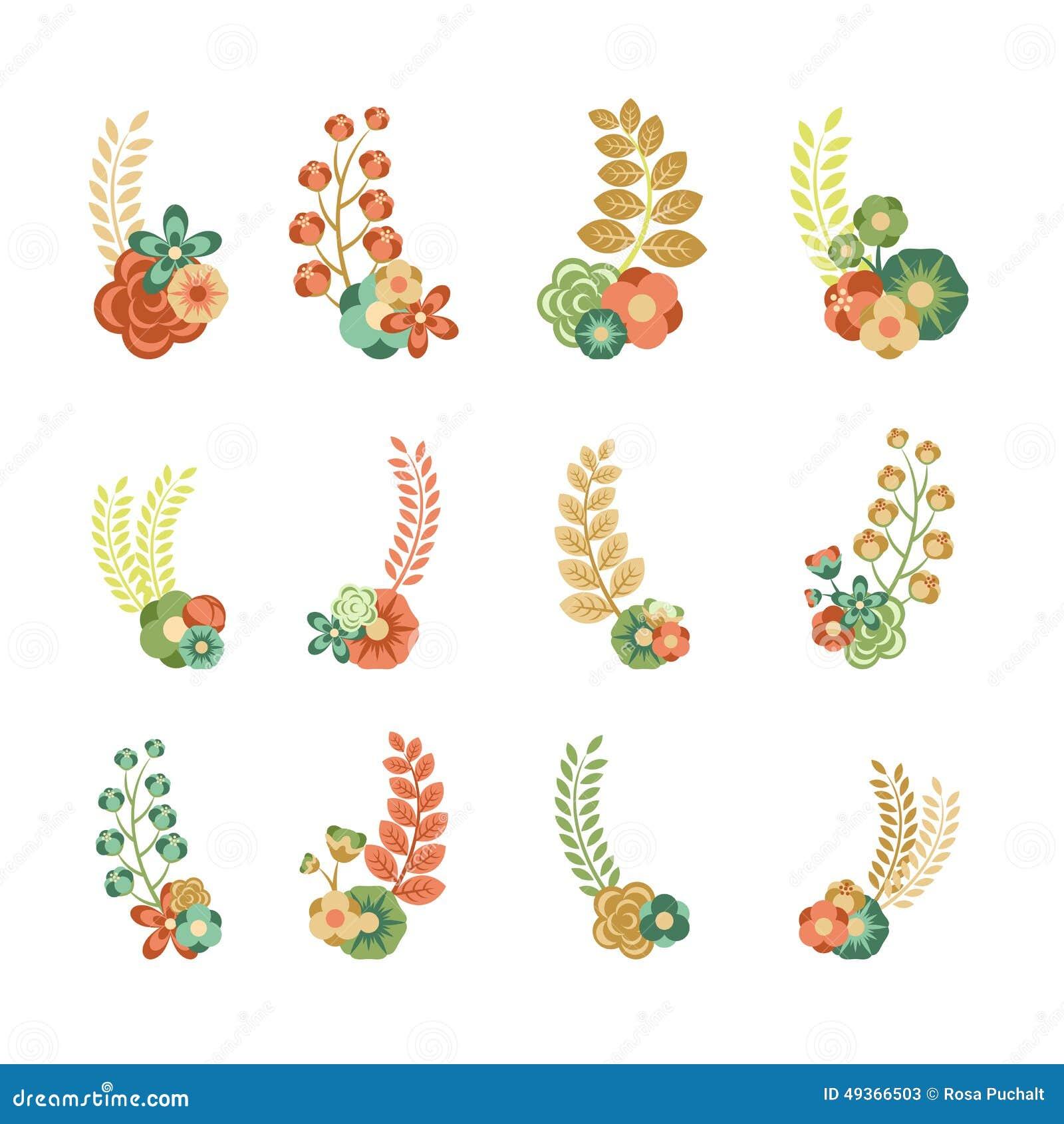 декоративные элементы флористические