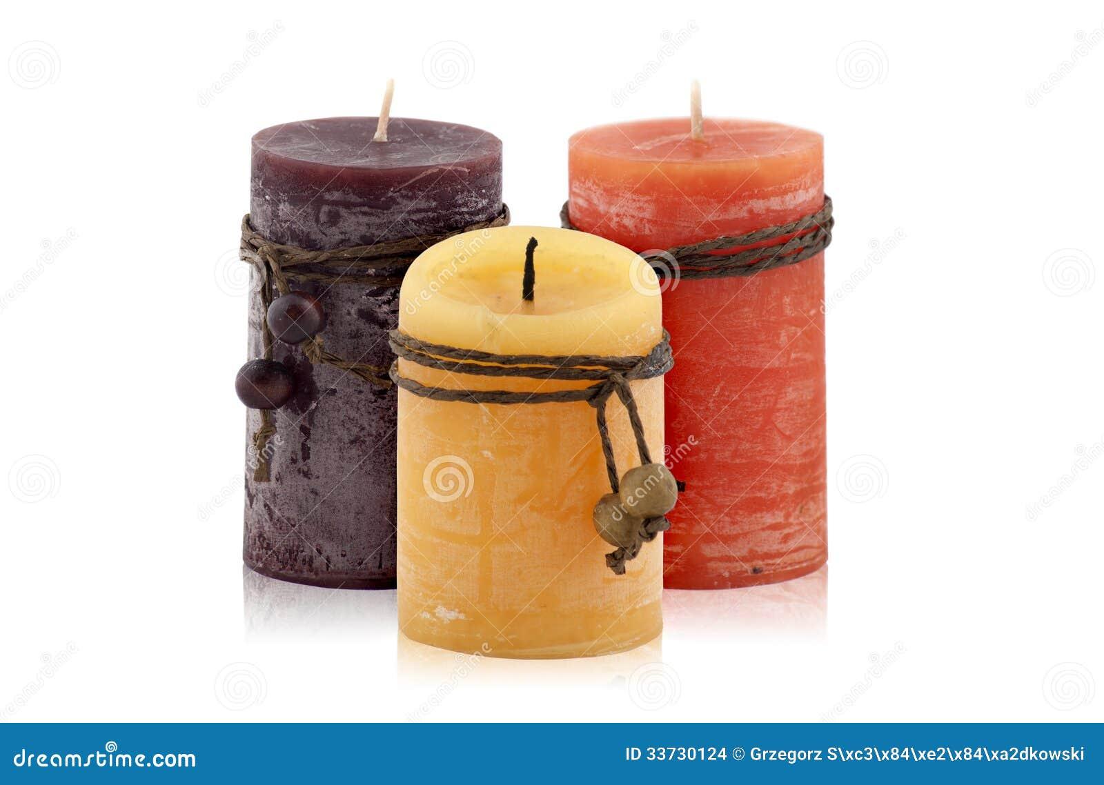 3 декоративных свечи