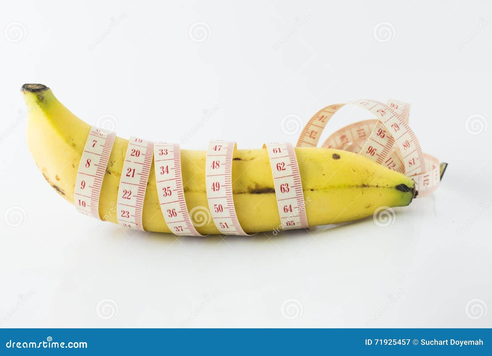 лента банана измеряя