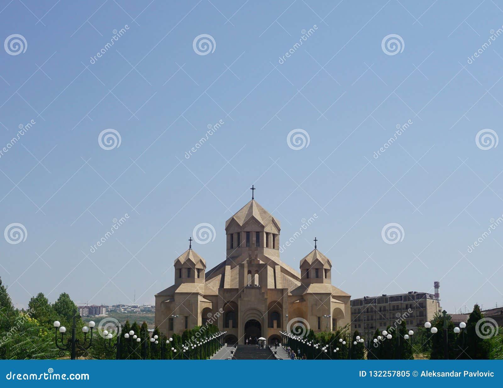 Ереван St Gregory взгляд собора иллюминатора
