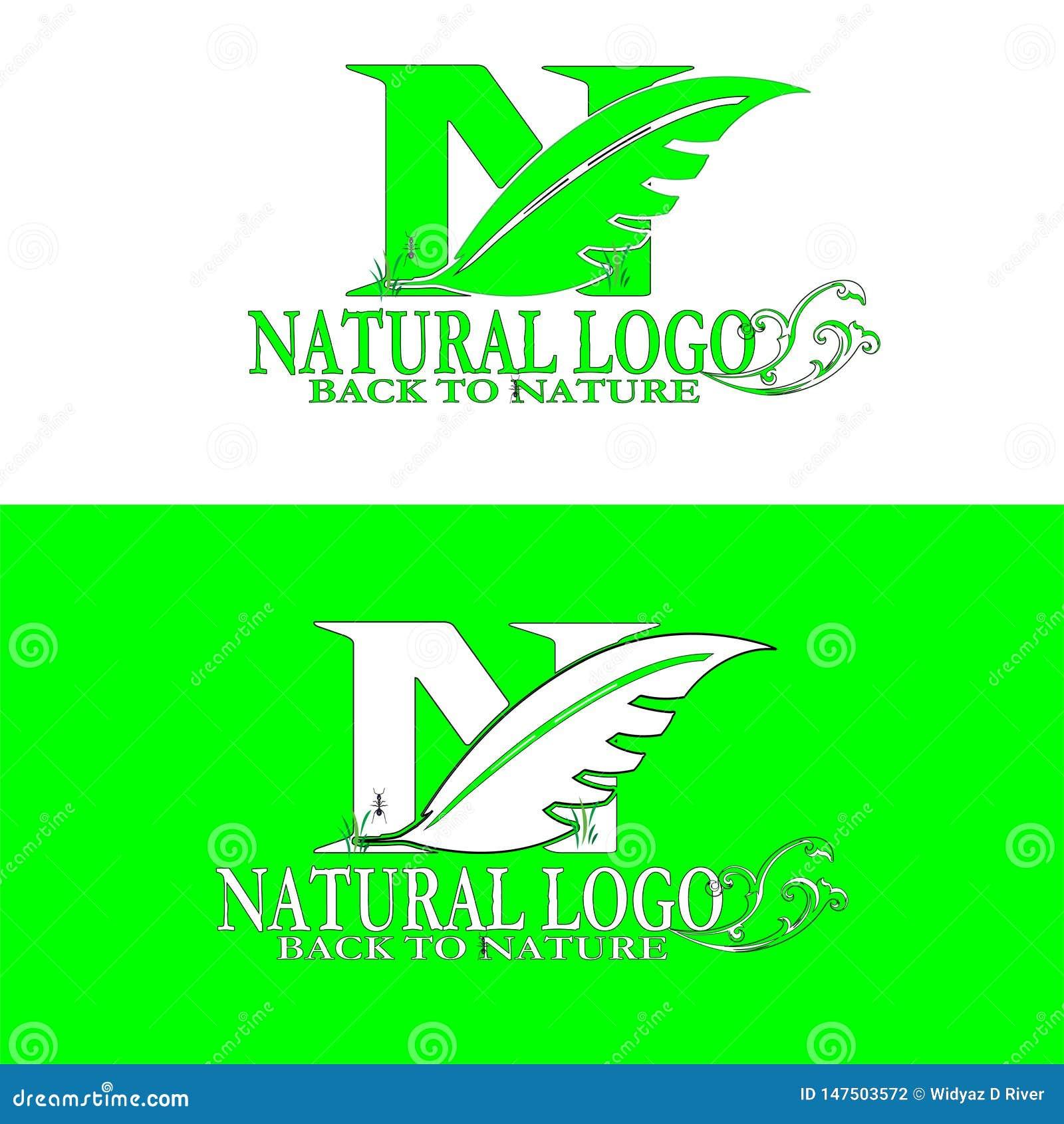 Естественная задняя часть логотипа к природе