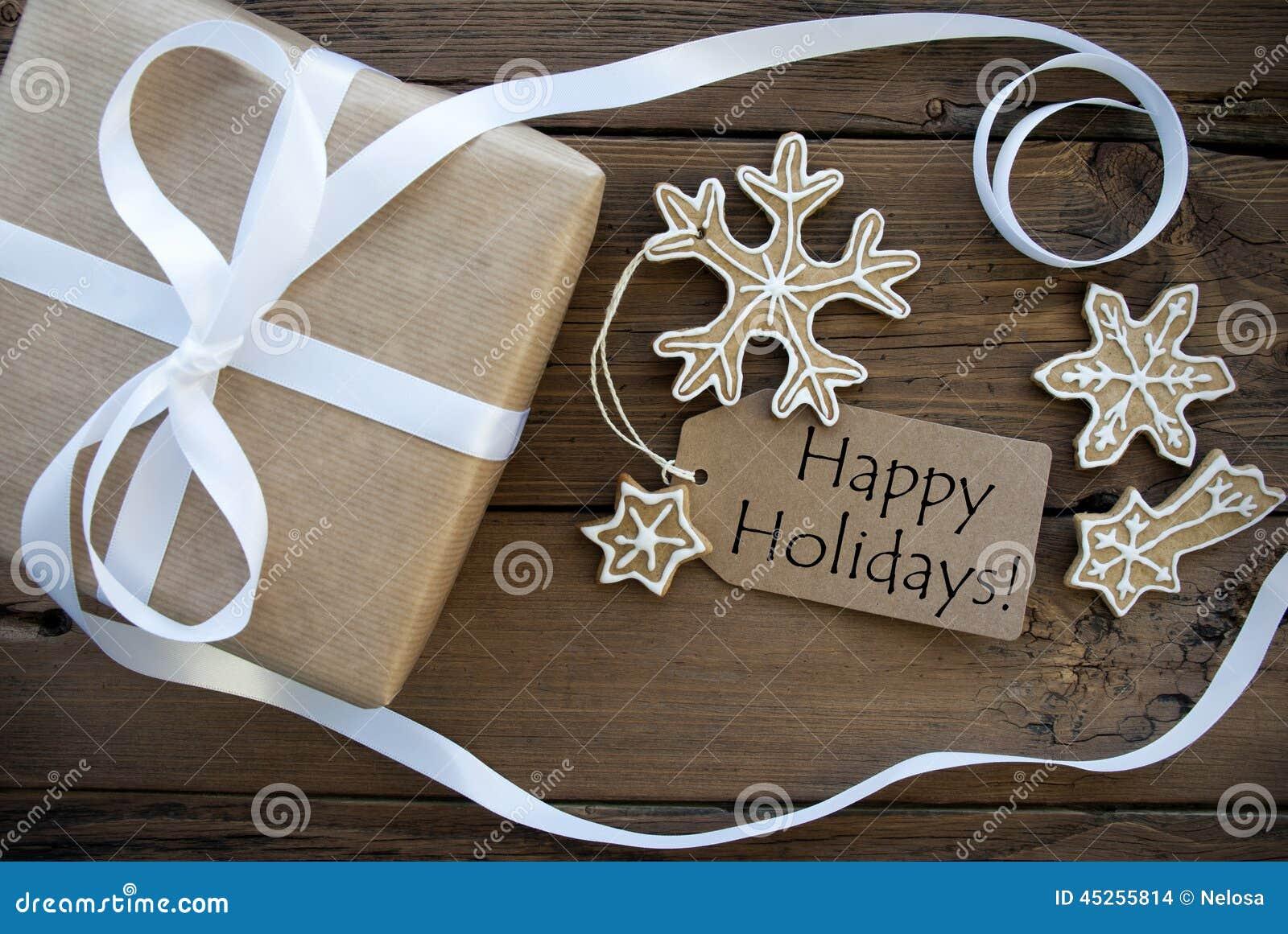 Естественная предпосылка рождества с счастливым ярлыком праздников