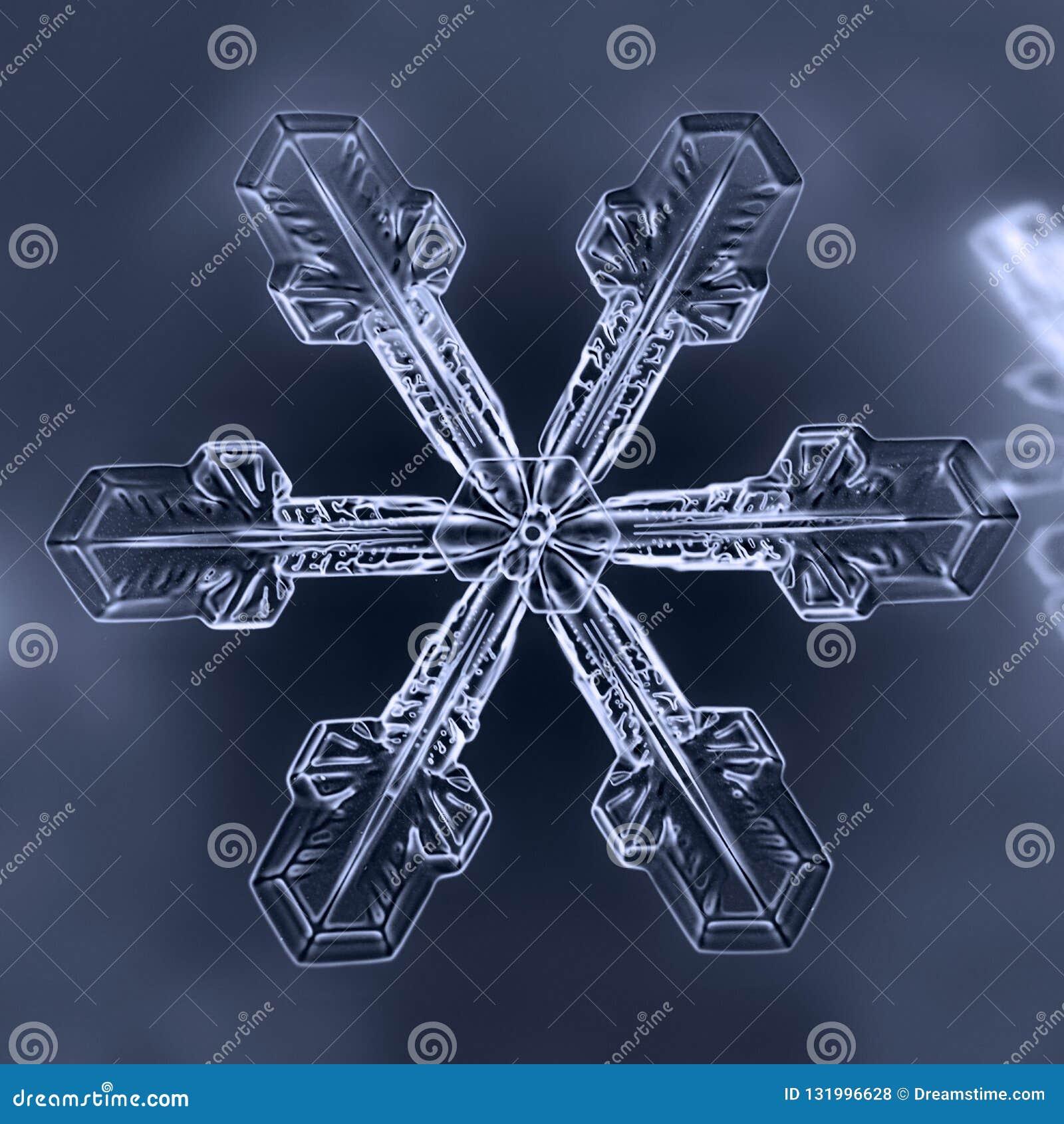 Естественная снежинка зимы