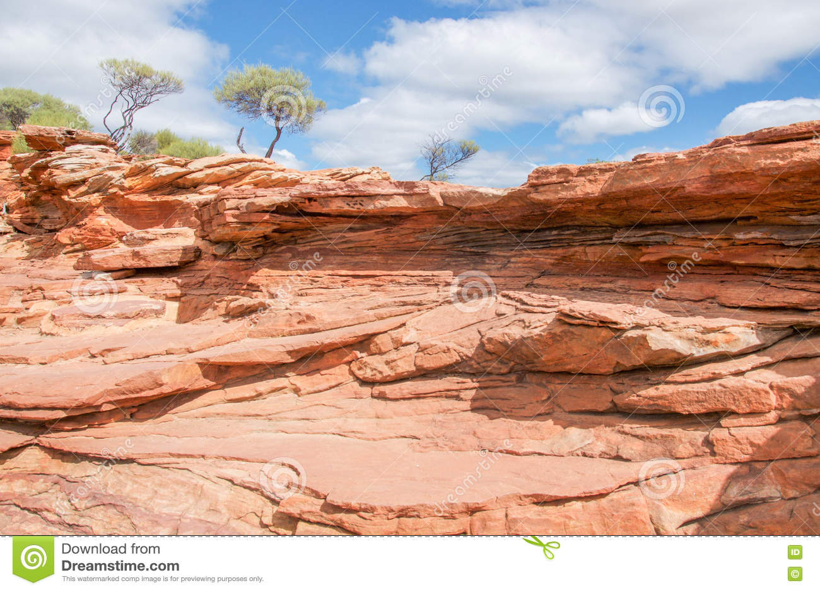 Естественное Kalbarri с скалами песчаника