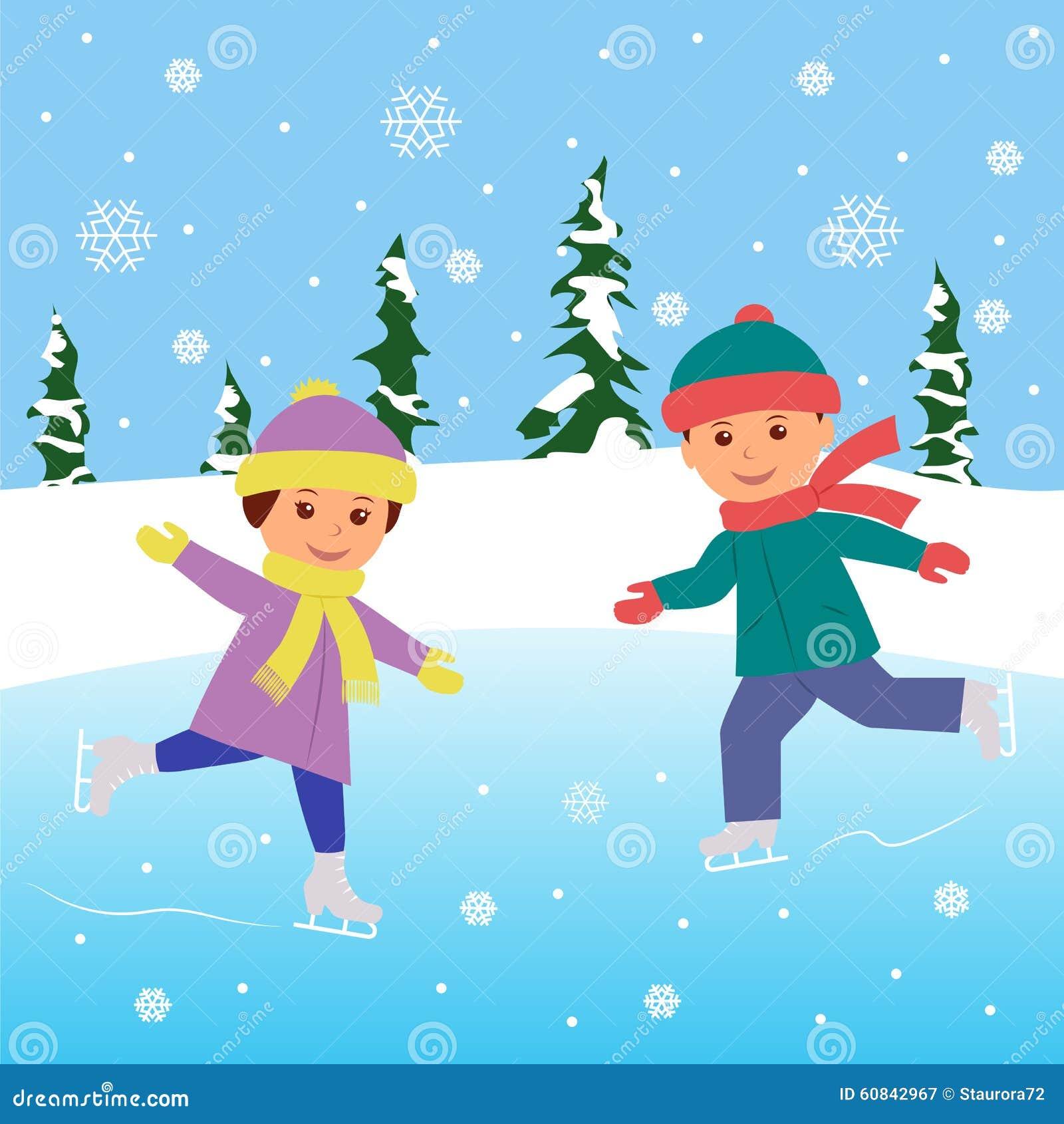 Картинки для детей дети на катке