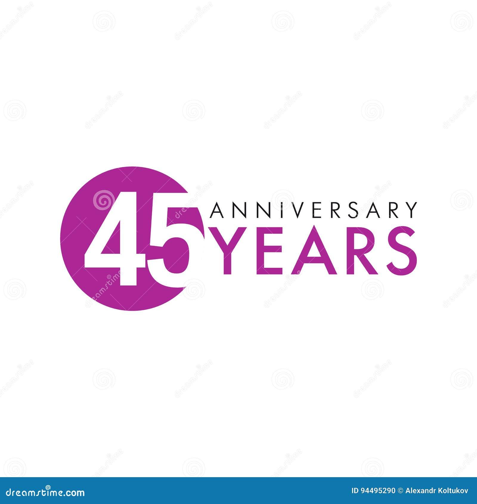 45 лет старого круглого логотипа