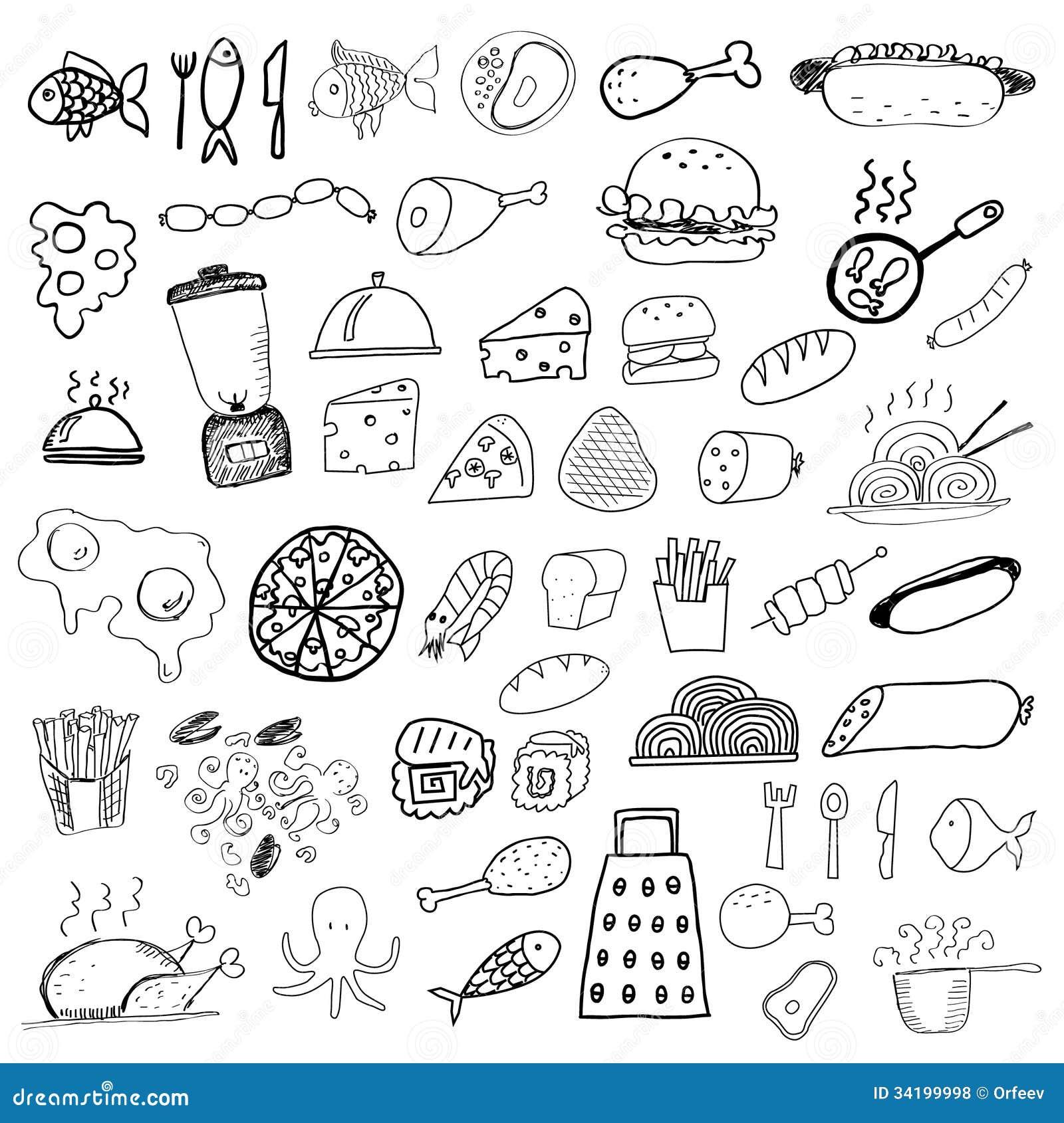 Рисунки еды ручкой