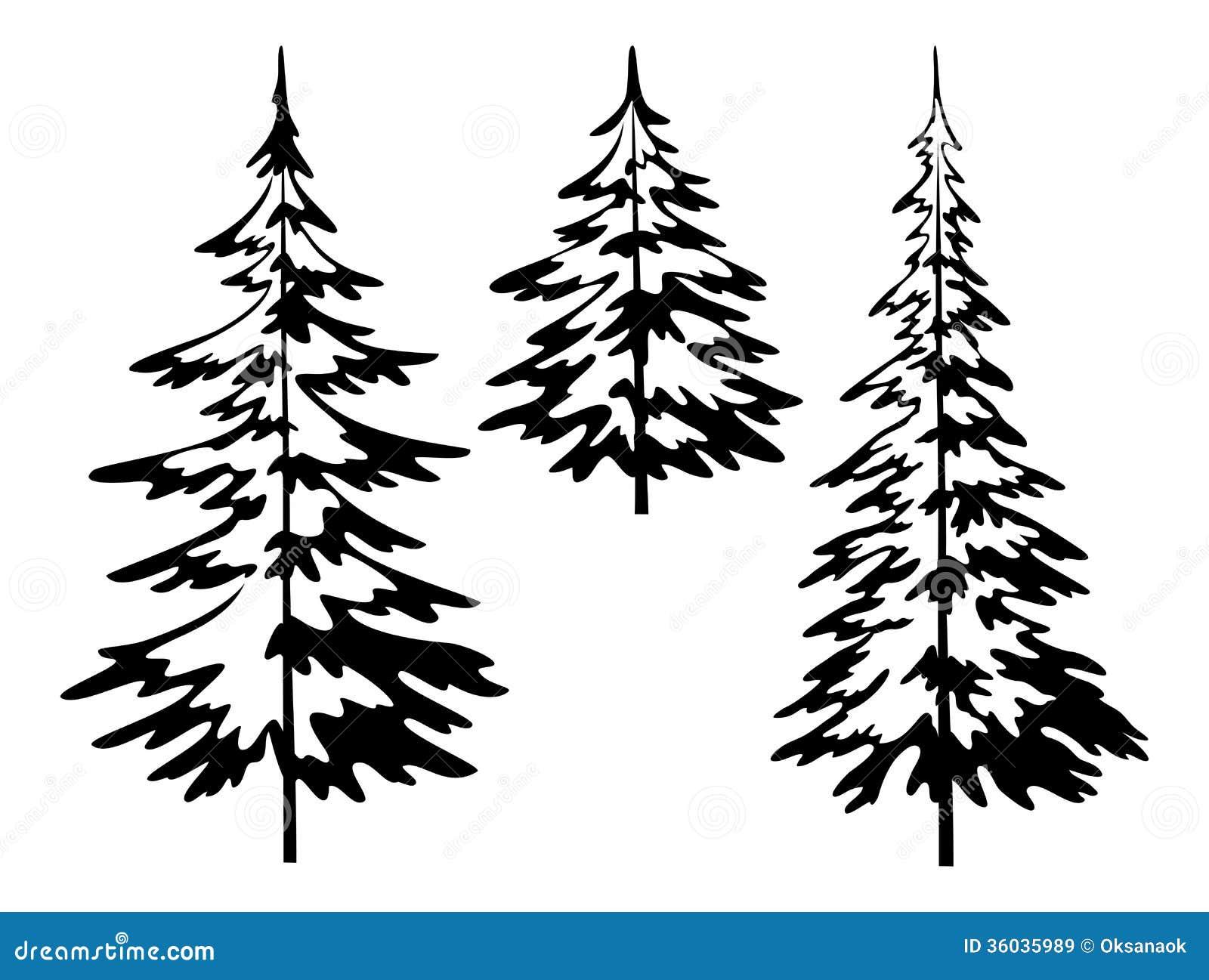тату лес ель дуб кузне трудится