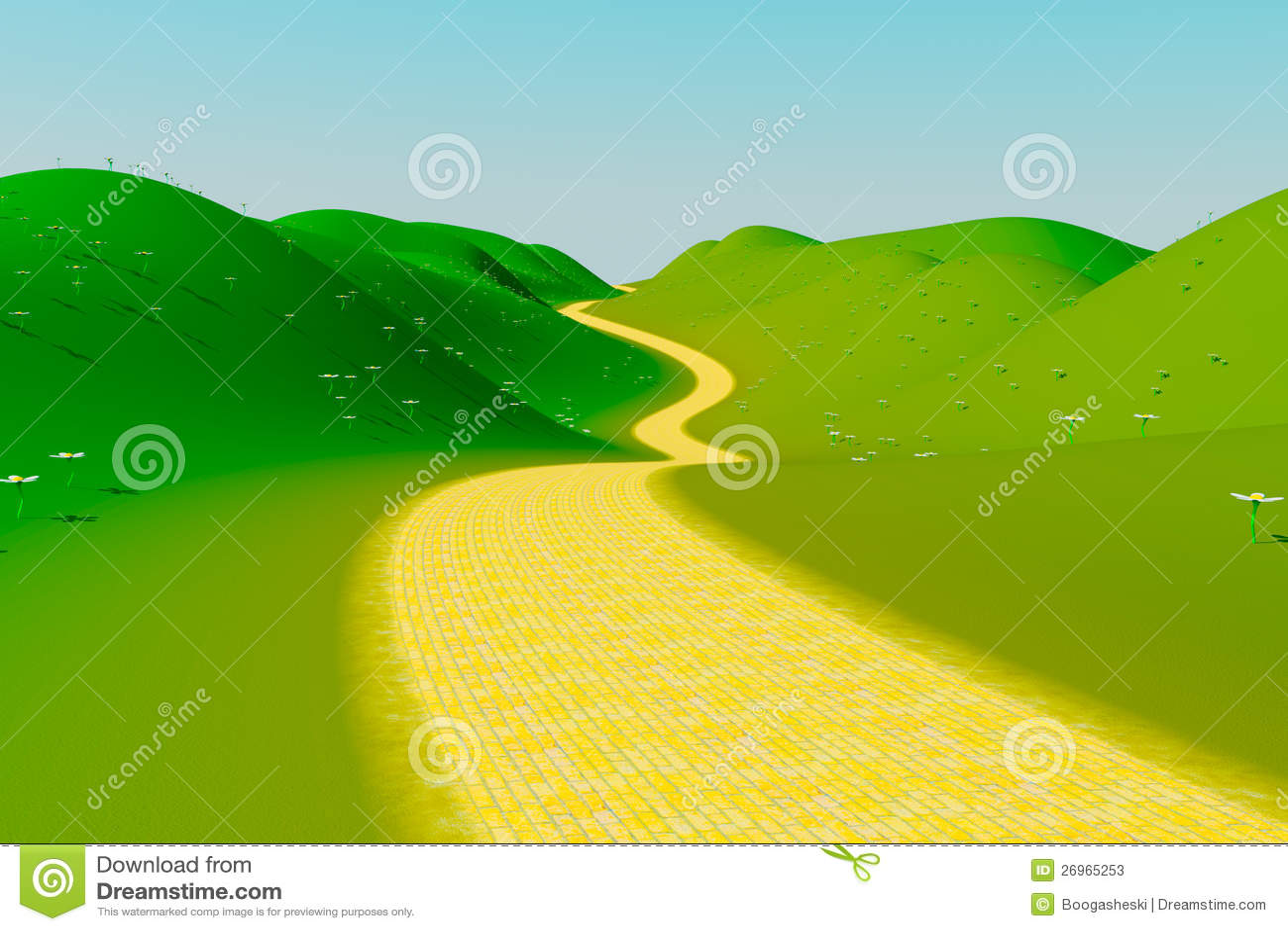 Желтая дорога кирпича