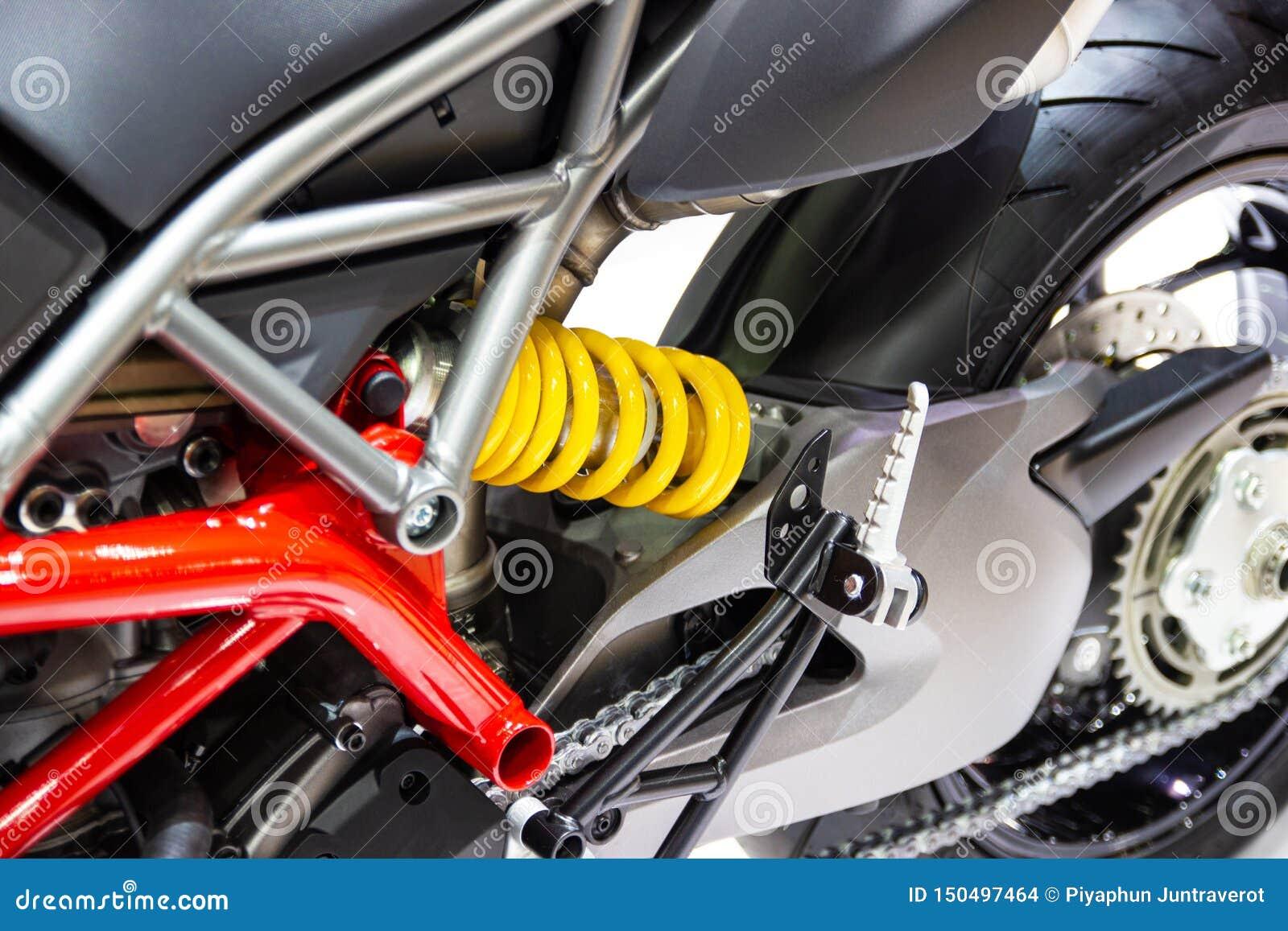 Желтые амортизаторы удара мотоцикла для поглощая ударов