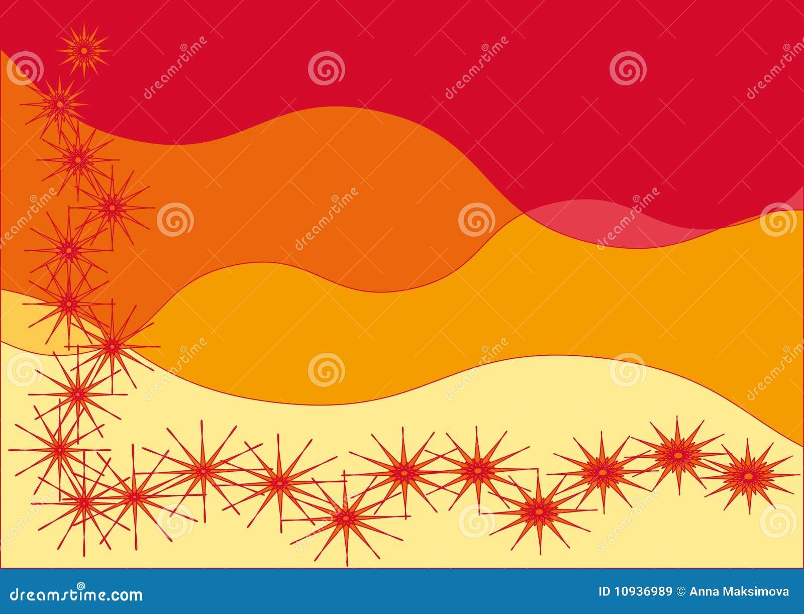 желтый цвет абстрактной предпосылки красный