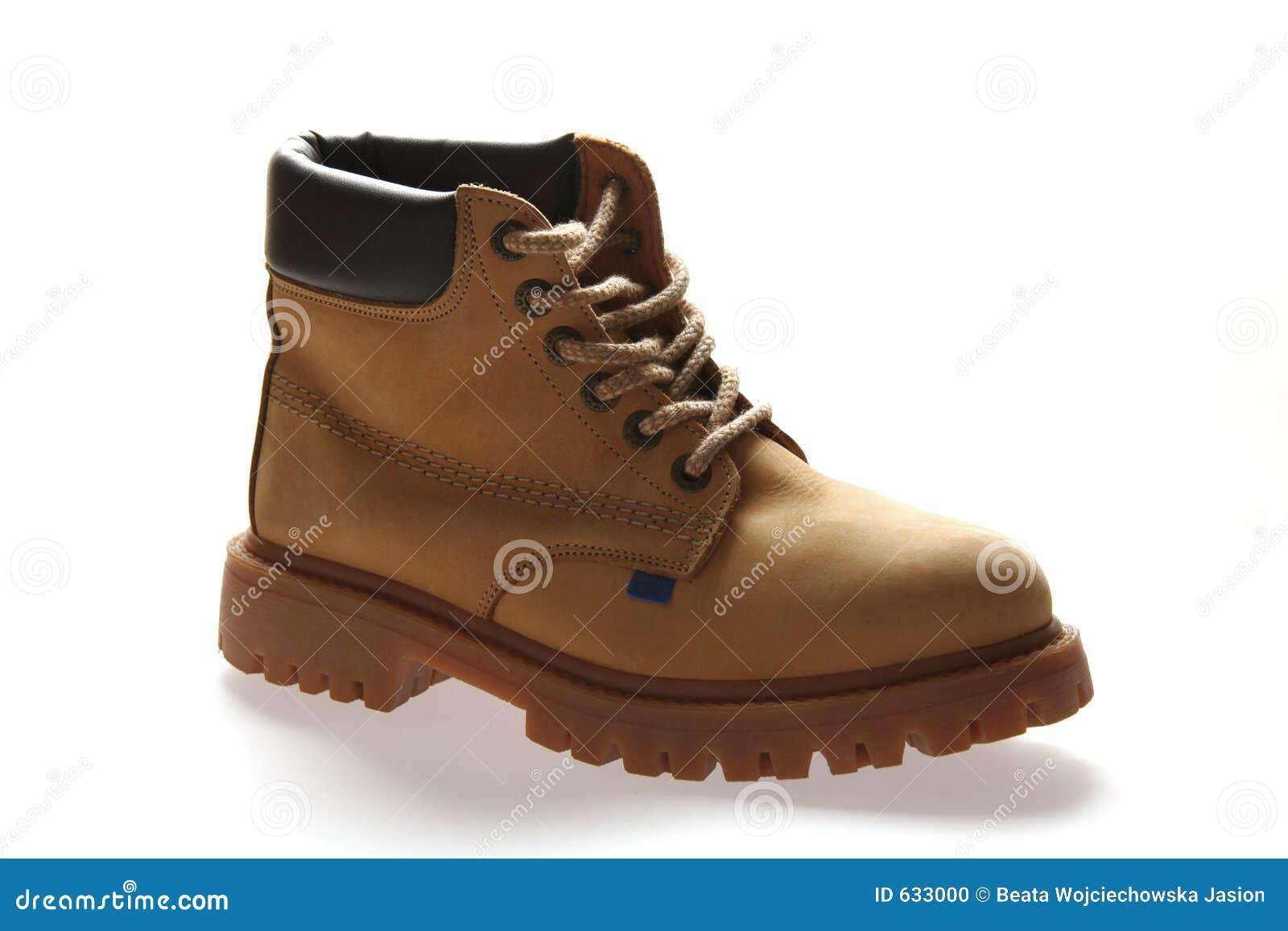 Download желтый цвет ботинка стоковое фото. изображение насчитывающей гора - 633000