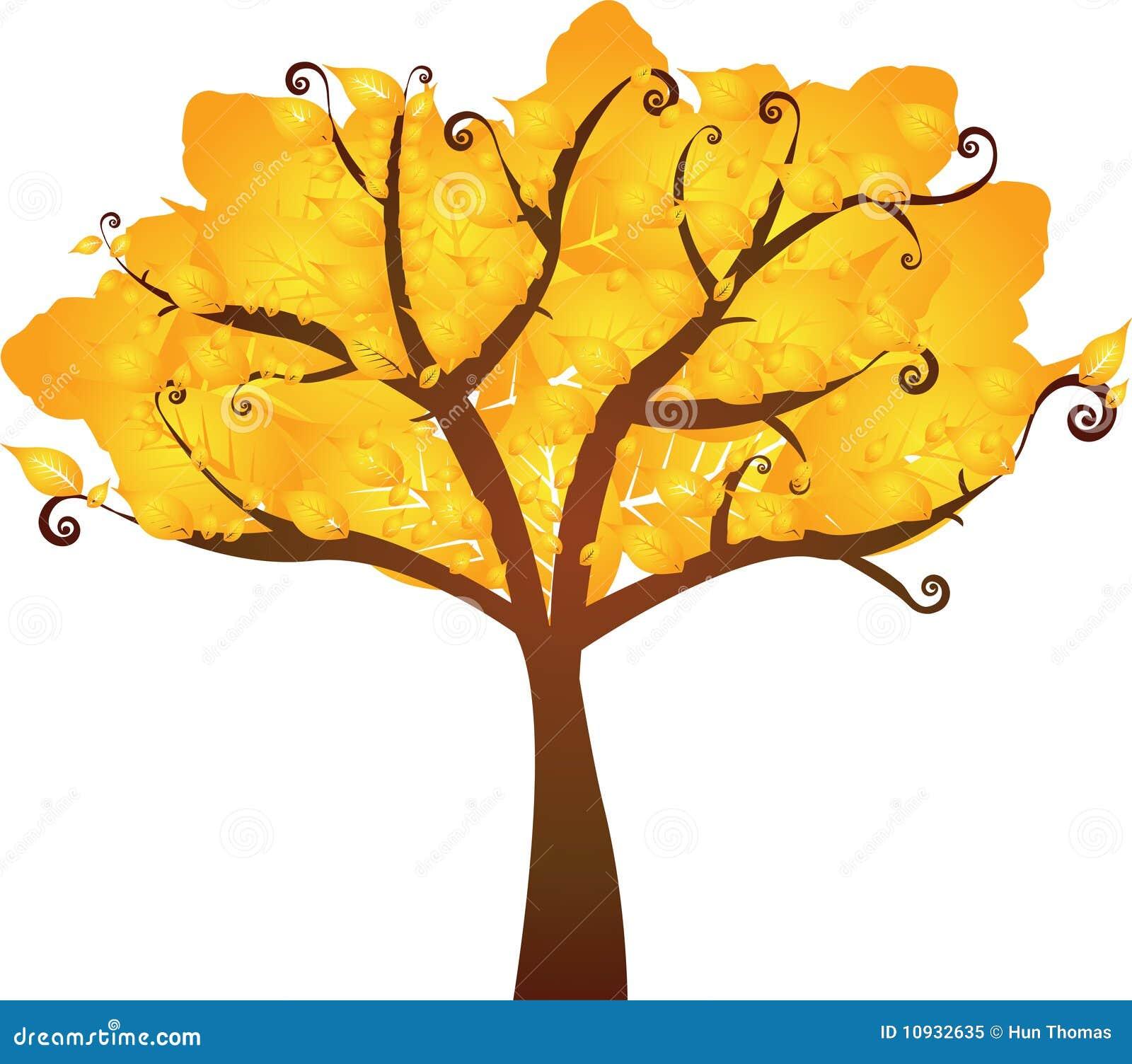 желтый цвет вала осени