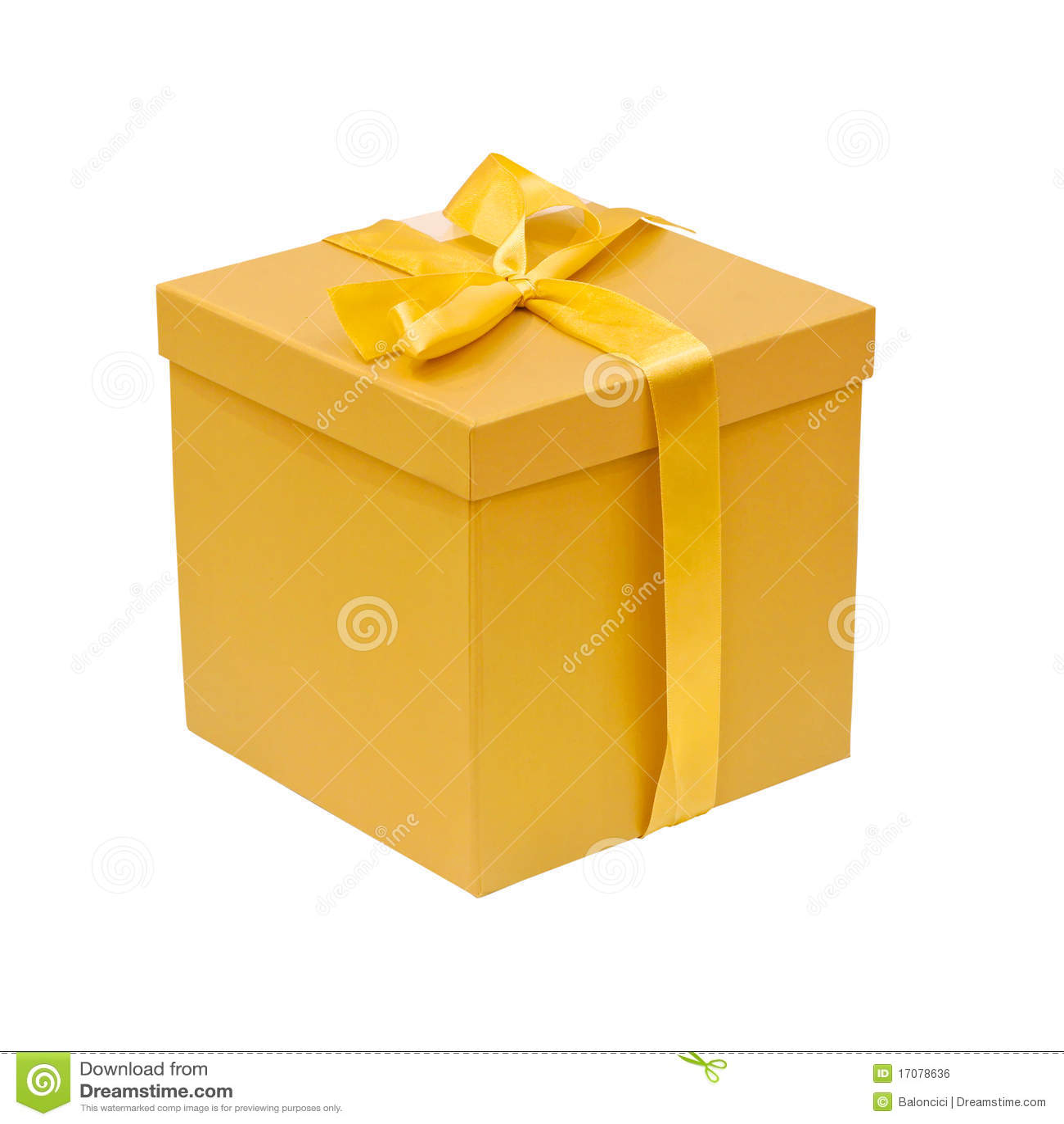 желтый цвет коробки