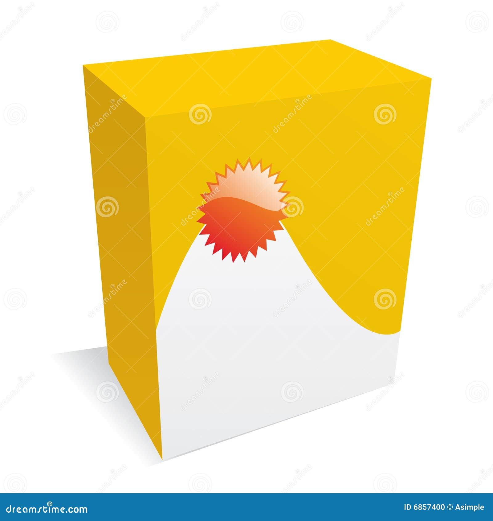 желтый цвет ПО коробки