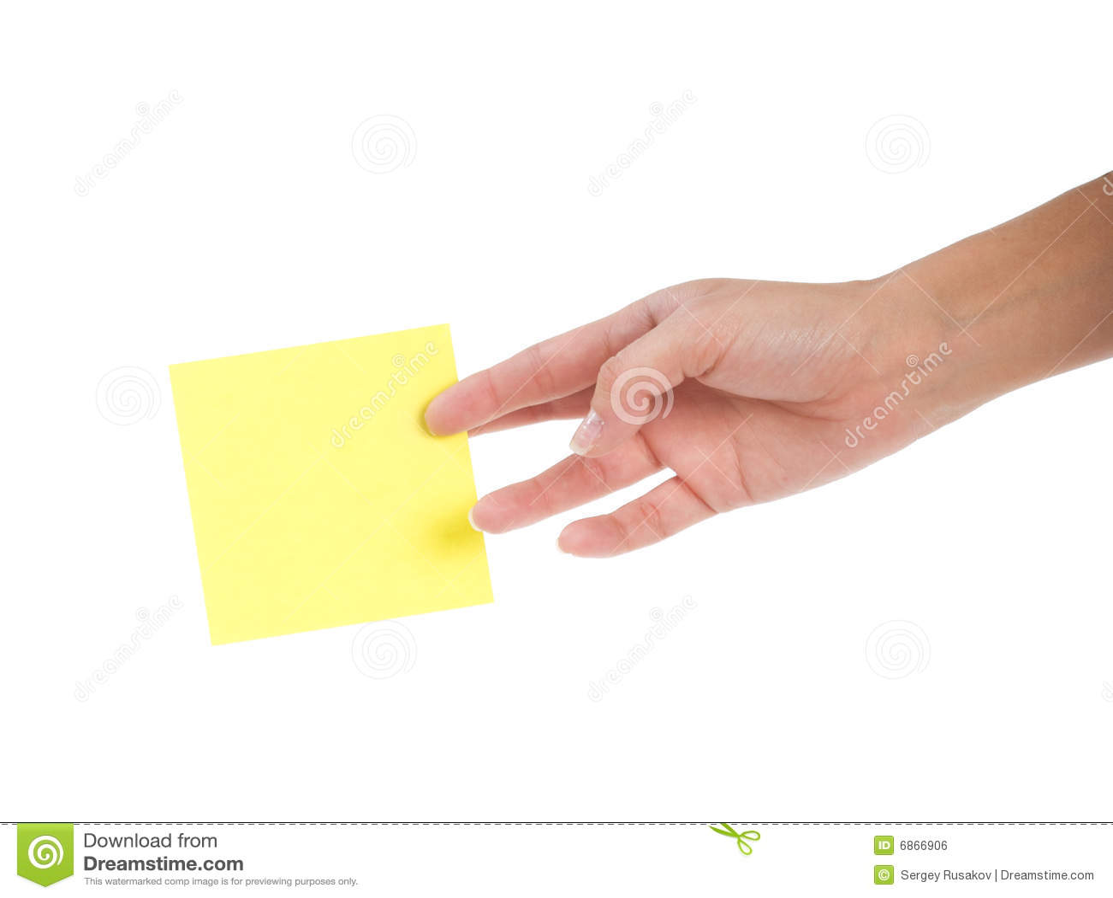 желтый цвет стикера